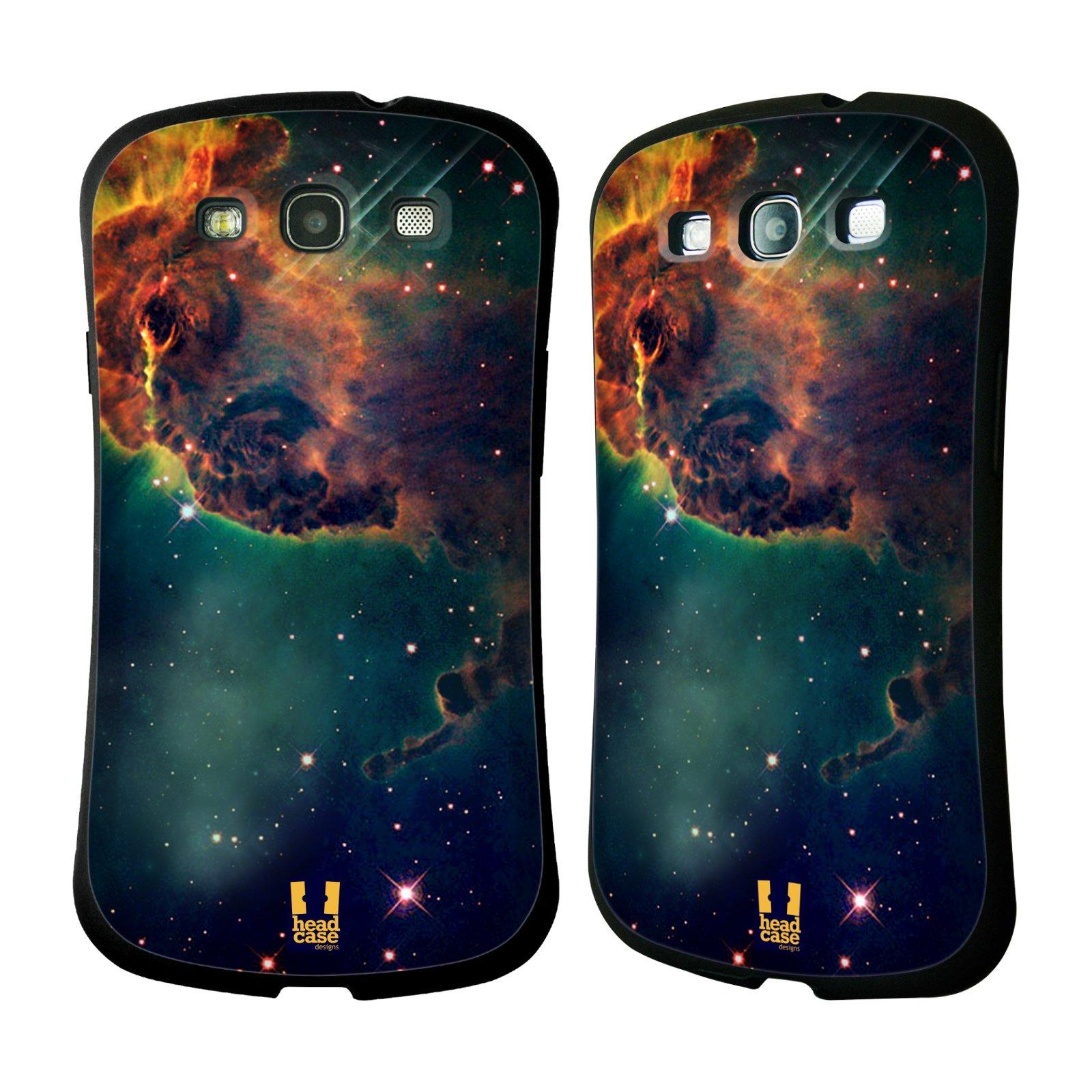HEAD CASE silikon/plast odolný obal na mobil Samsung Galaxy S3 vzor Vesmírná krása MLHOVINA