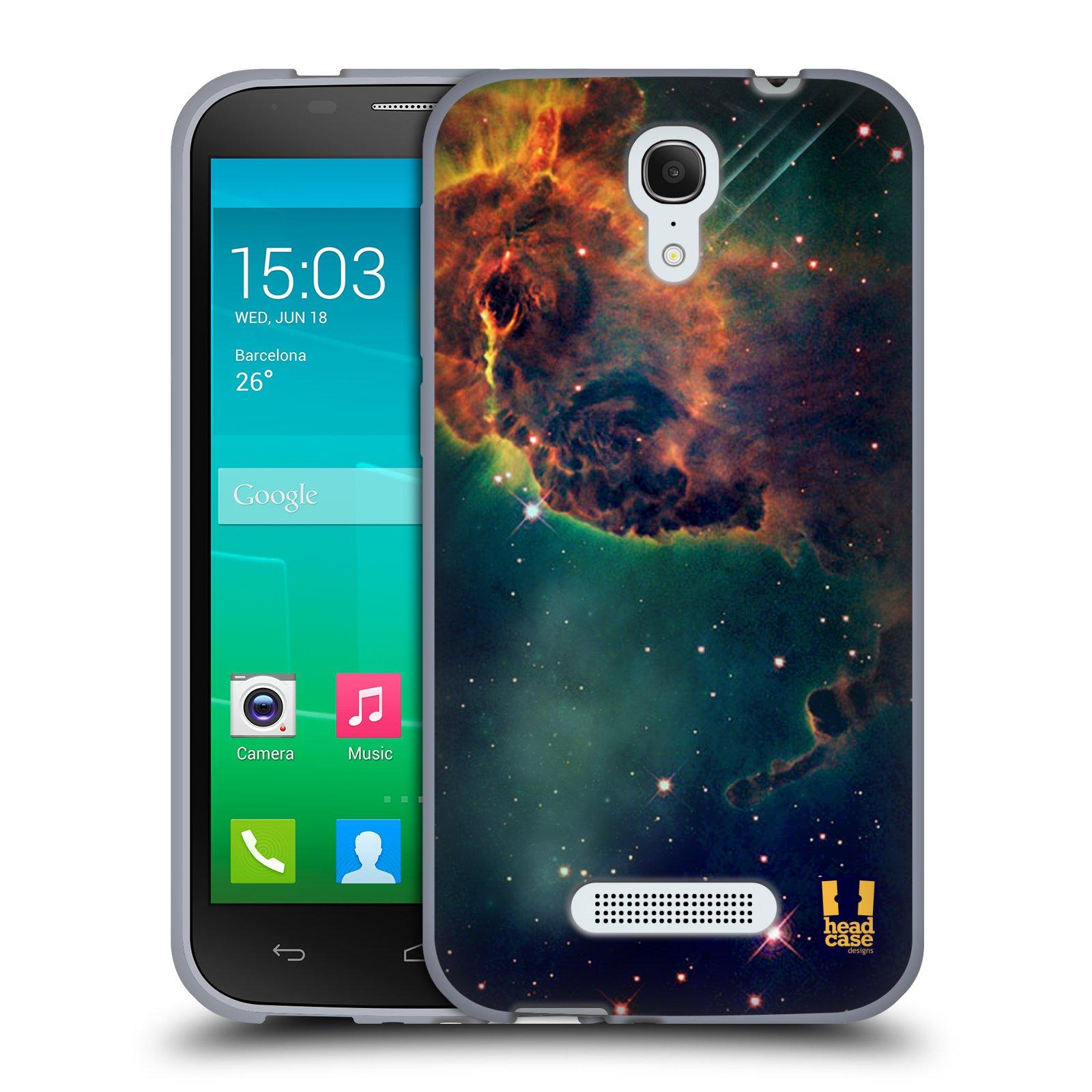 HEAD CASE silikonový obal na mobil Alcatel POP S7 vzor Vesmírná krása MLHOVINA