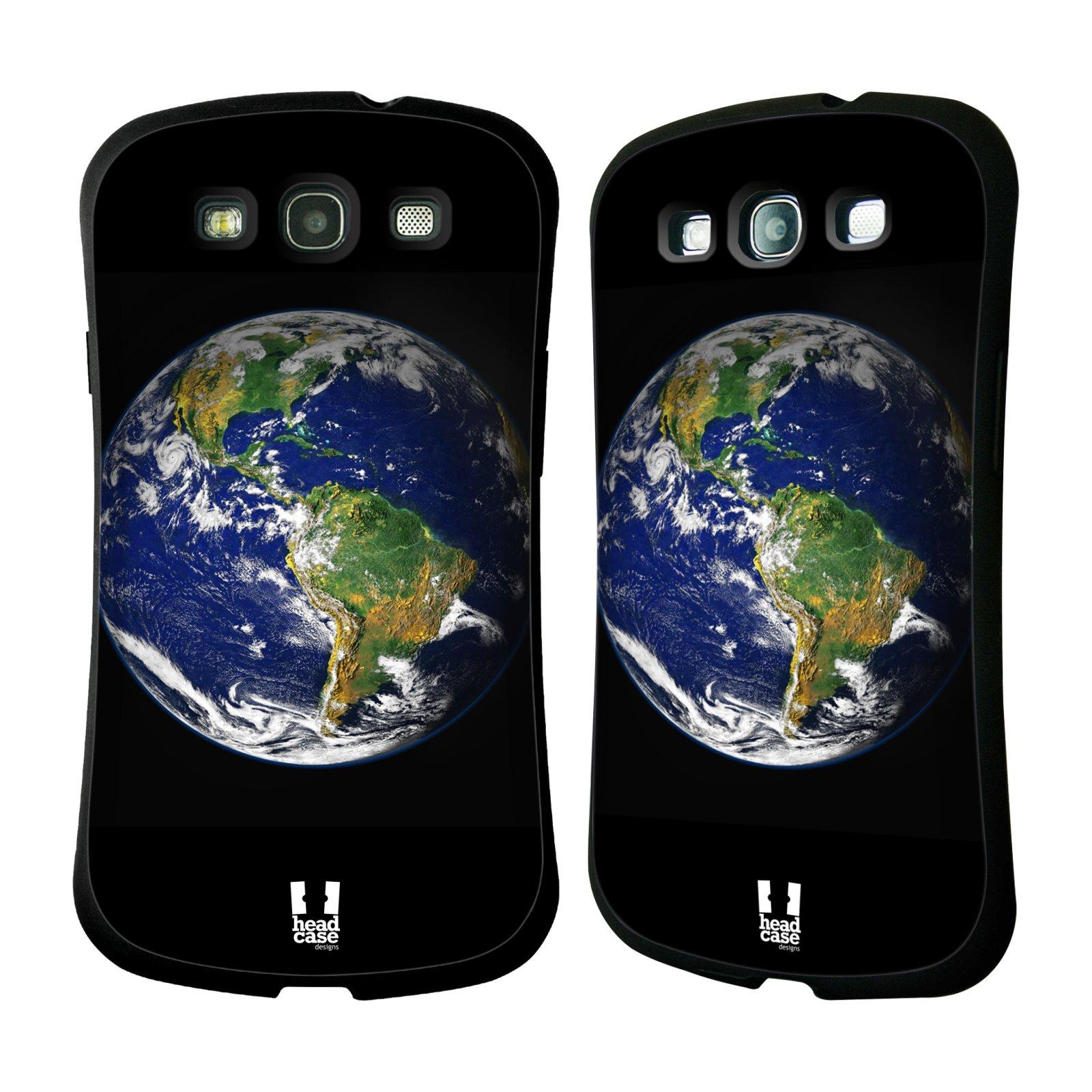 HEAD CASE silikon/plast odolný obal na mobil Samsung Galaxy S3 vzor Vesmírná krása ZEMĚ