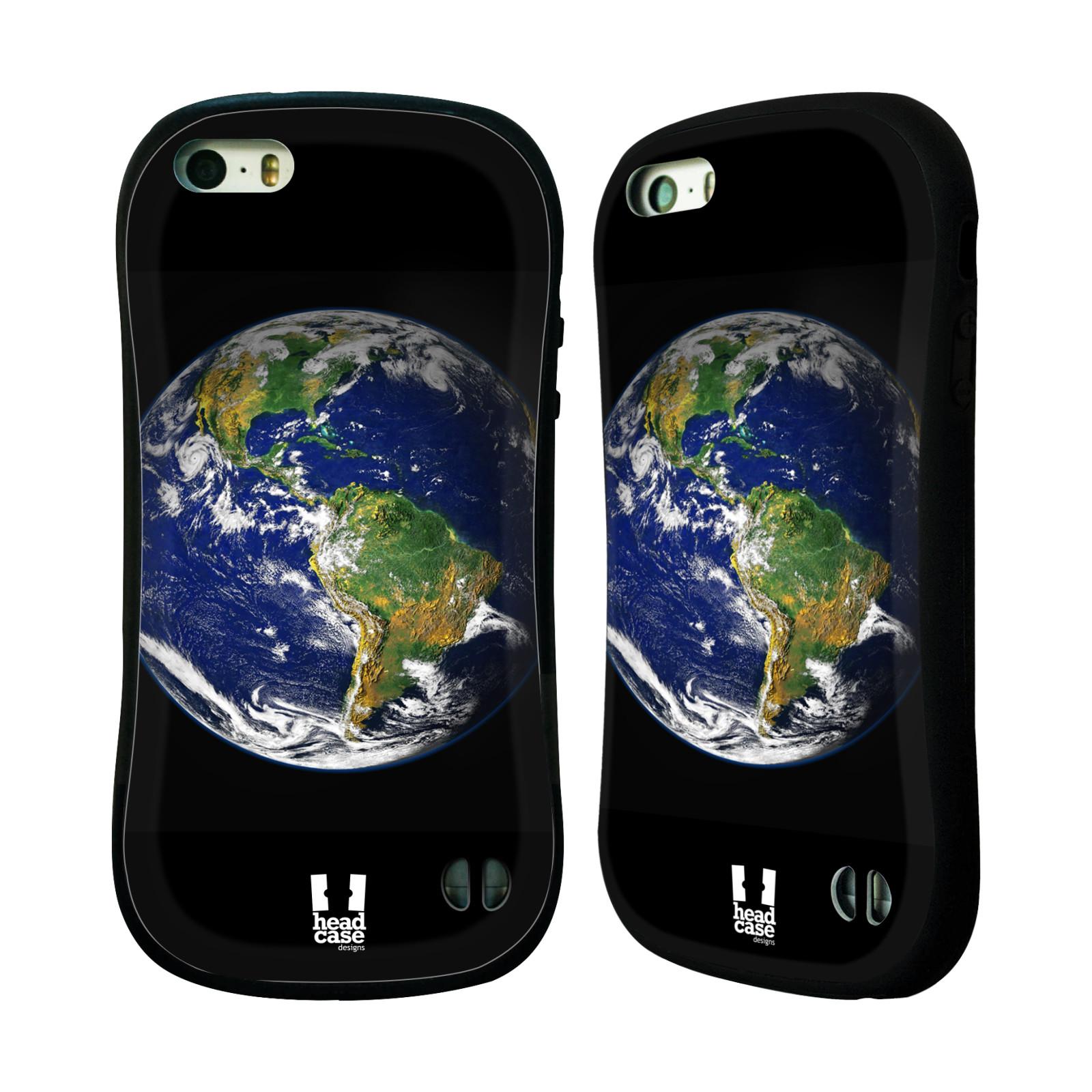 HEAD CASE silikon/plast odolný obal na mobil Apple Iphone 5/5S vzor Vesmírná krása ZEMĚ