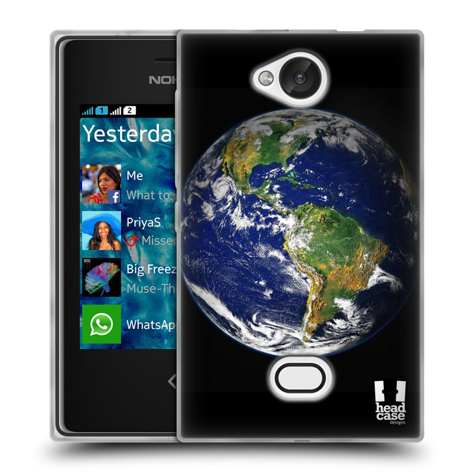 HEAD CASE silikonový obal na mobil NOKIA Asha 503 vzor Vesmírná krása ZEMĚ