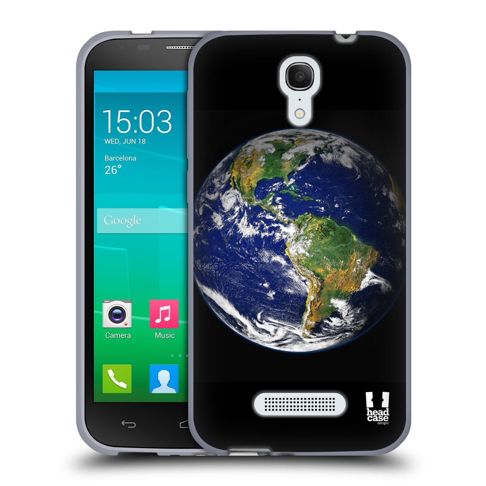 HEAD CASE silikonový obal na mobil Alcatel POP S7 vzor Vesmírná krása ZEMĚ