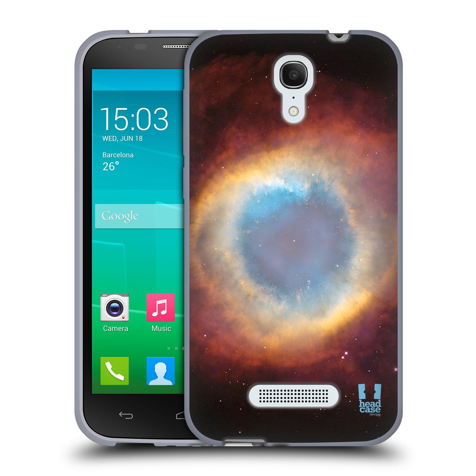 HEAD CASE silikonový obal na mobil Alcatel POP S7 vzor Vesmírná krása PLYNOVÁ MLHOVINA