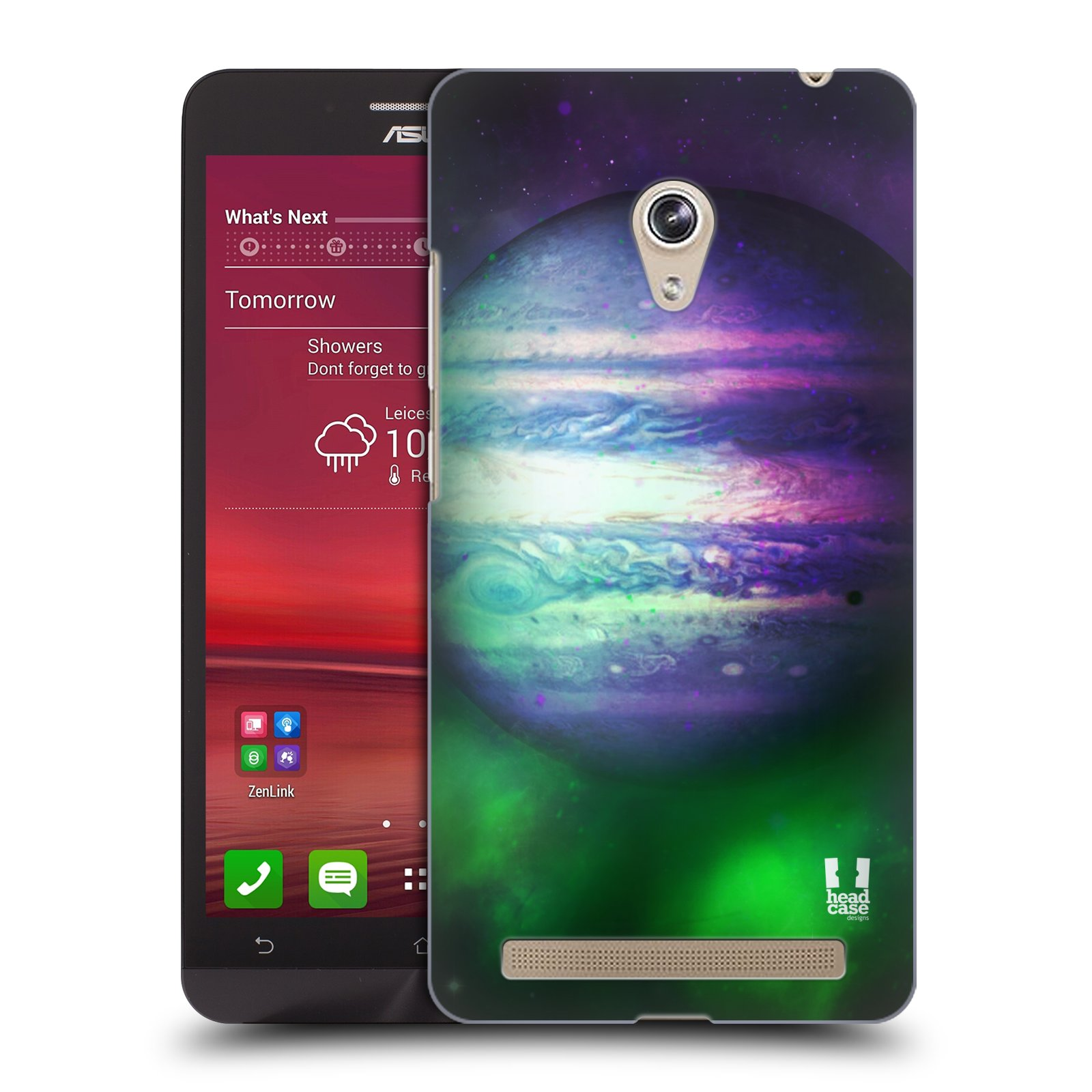 HEAD CASE plastový obal na mobil Asus Zenfone 6 vzor Vesmírná krása JUPITER MODRÁ