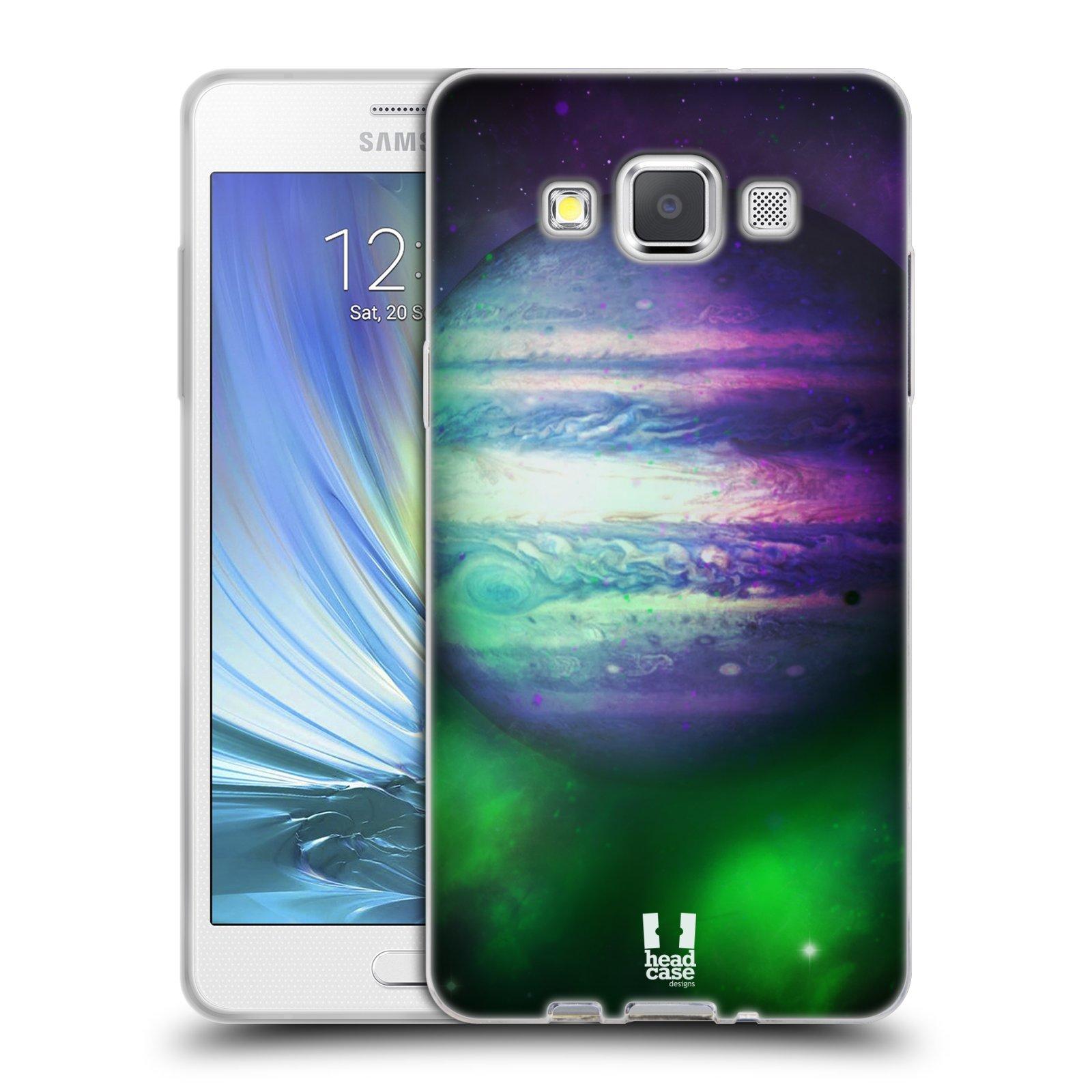 HEAD CASE silikonový obal na mobil Samsung Galaxy A5 vzor Vesmírná krása JUPITER MODRÁ