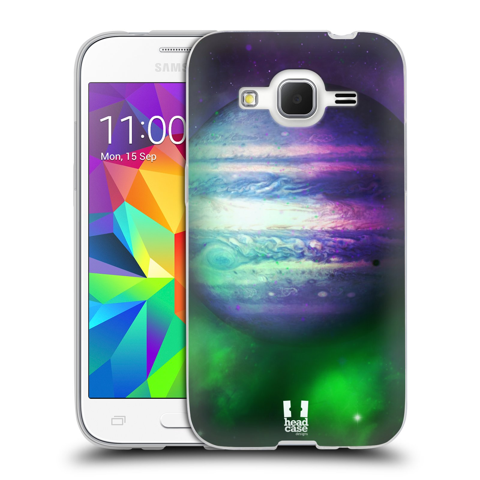 HEAD CASE silikonový obal na mobil Samsung Galaxy Core Prime (G360) vzor Vesmírná krása JUPITER MODRÁ