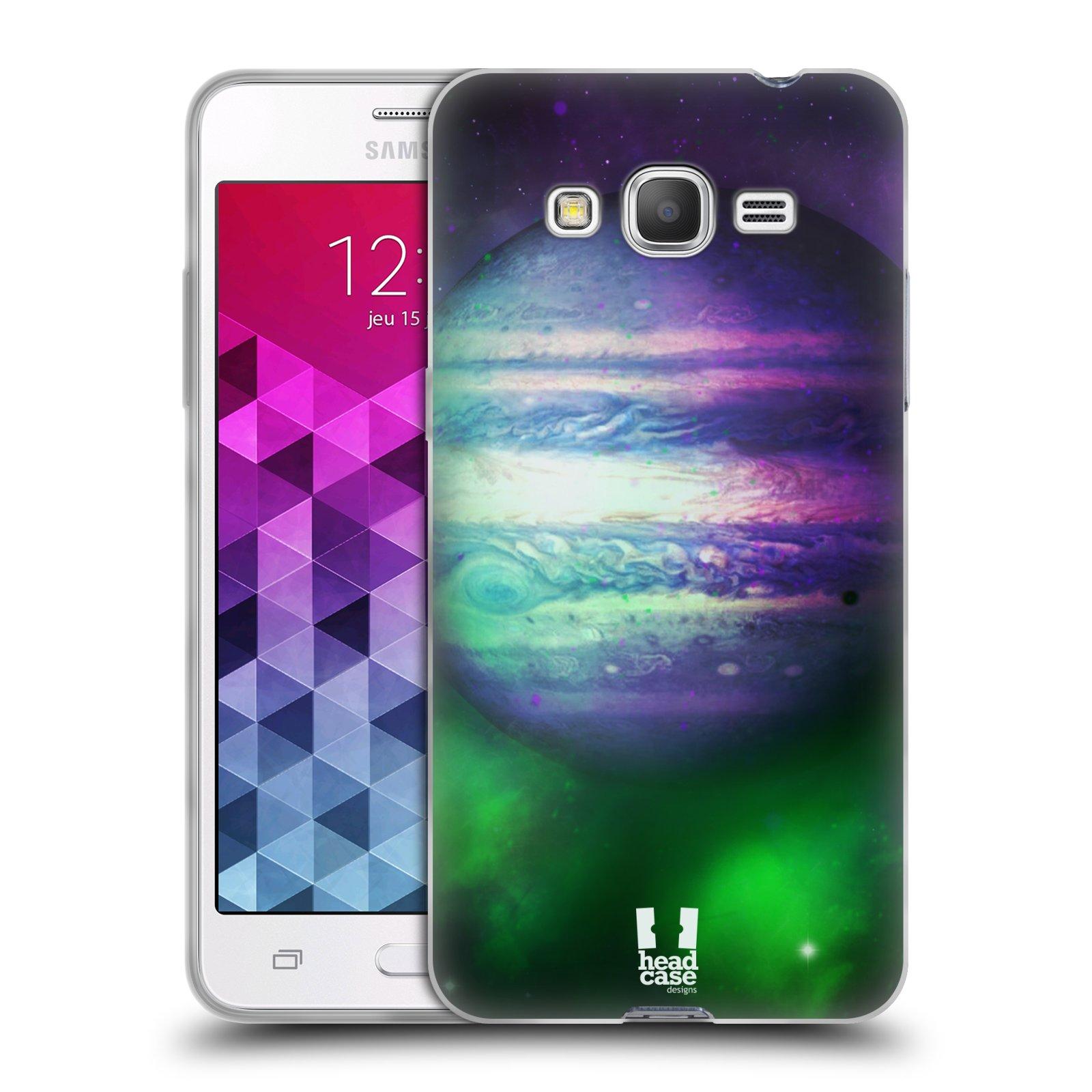 HEAD CASE silikonový obal na mobil Samsung Galaxy GRAND PRIME vzor Vesmírná krása JUPITER MODRÁ