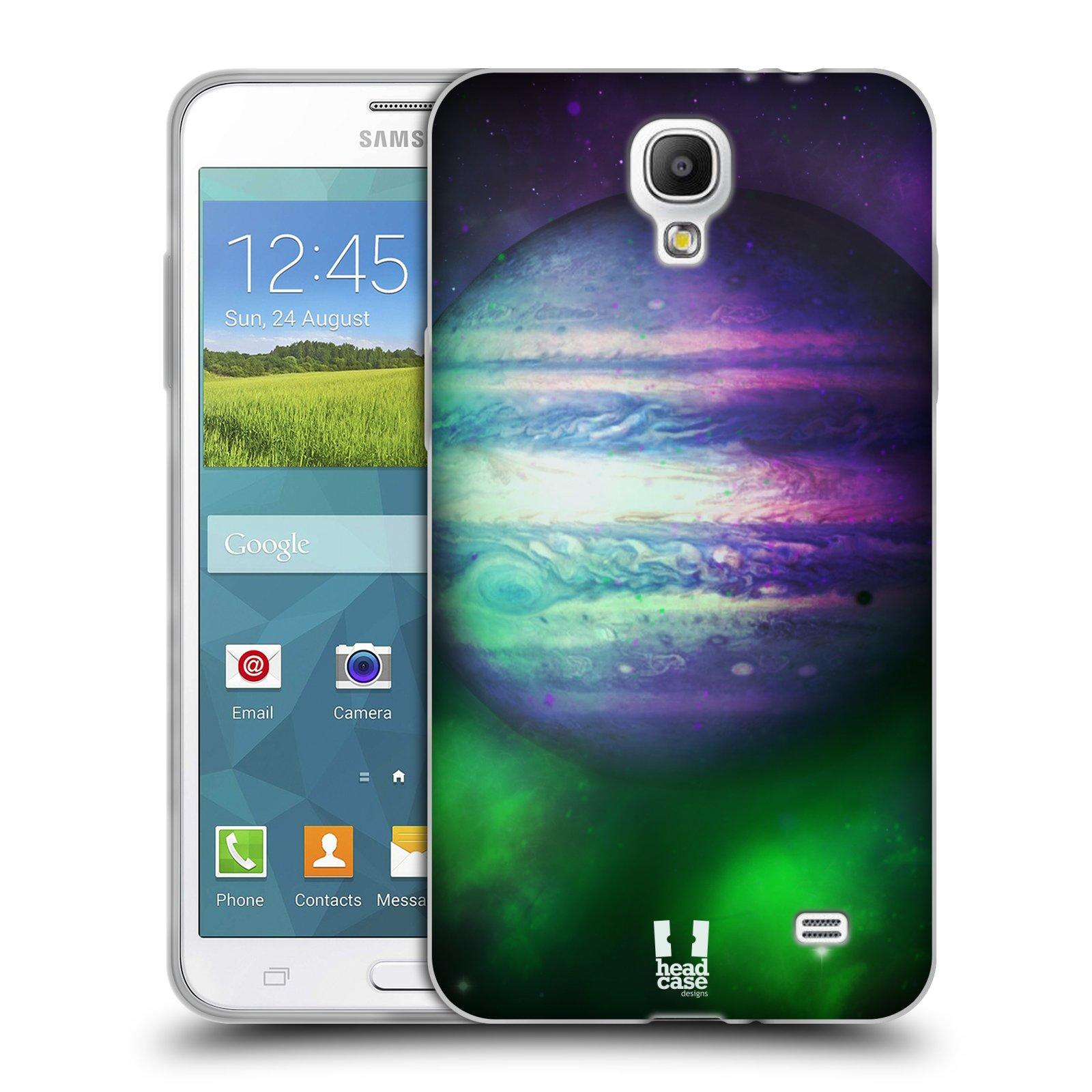 HEAD CASE silikonový obal na mobil Samsung Galaxy Mega 2 vzor Vesmírná krása JUPITER MODRÁ