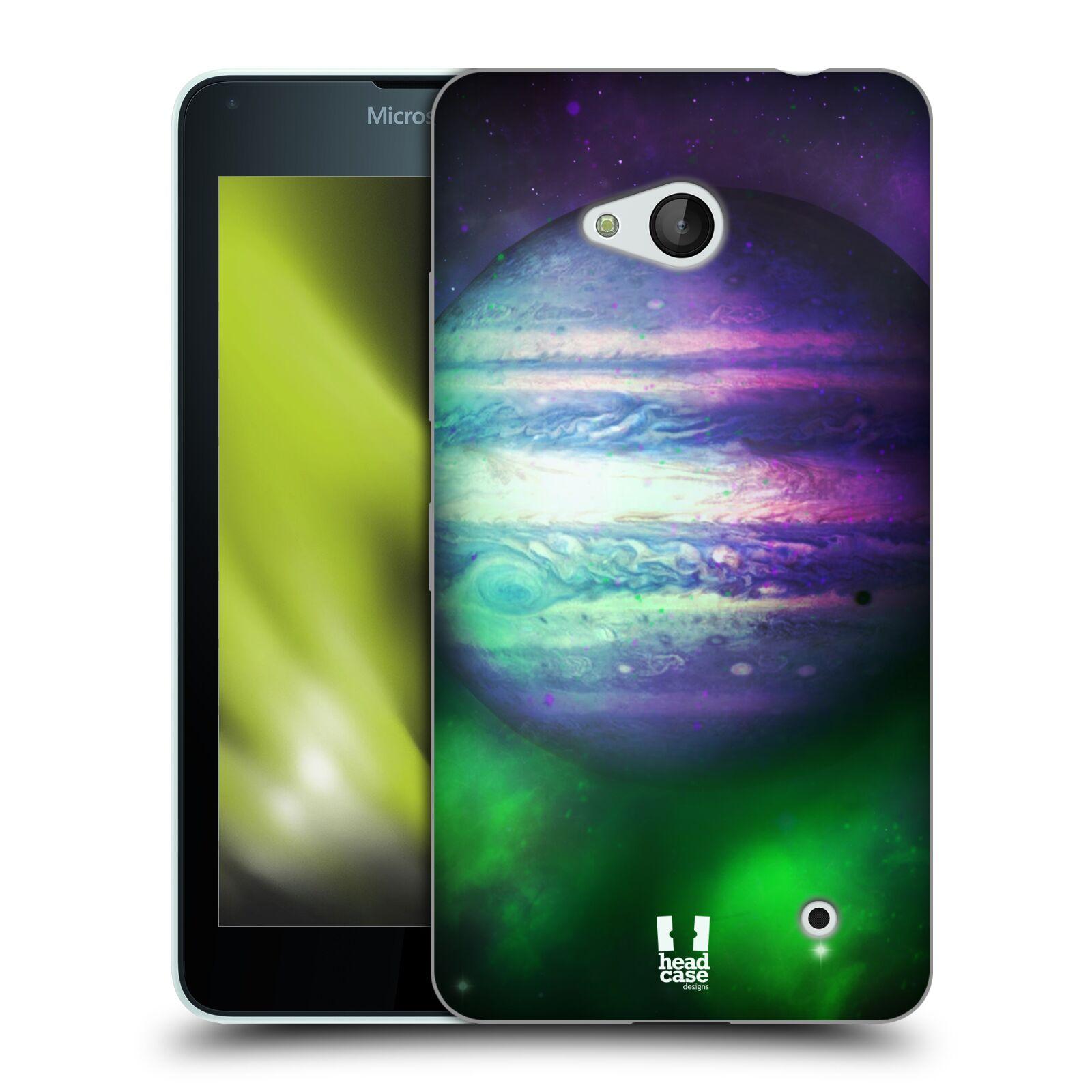 HEAD CASE silikonový obal na mobil Microsoft / Nokia Lumia 640 / Lumia 640 DUAL vzor Vesmírná krása JUPITER MODRÁ