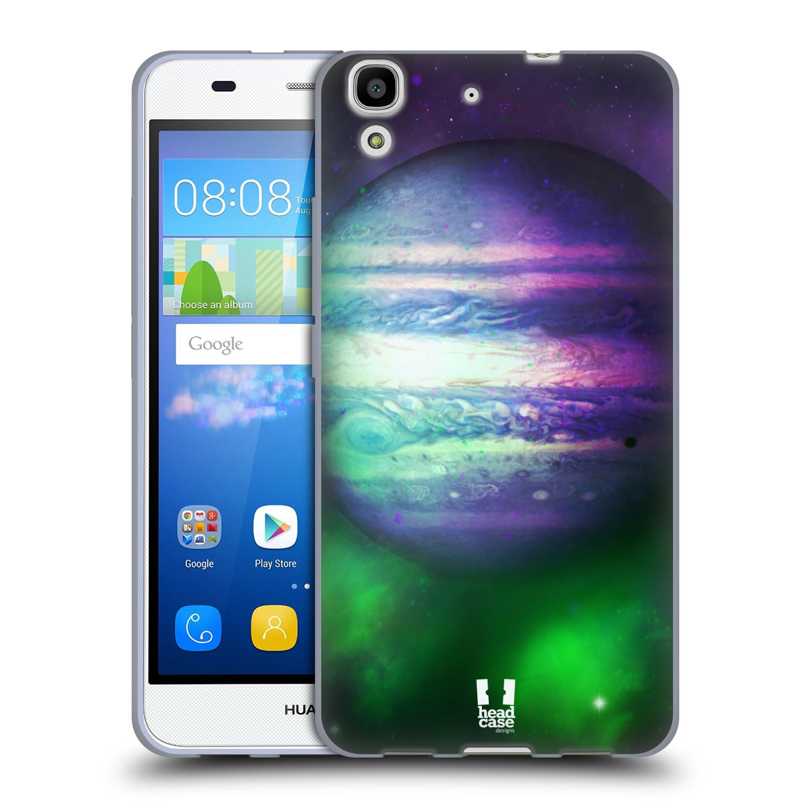 HEAD CASE silikonový obal na mobil HUAWEI Y6 vzor Vesmírná krása JUPITER  MODRÁ 12a303ae6fe