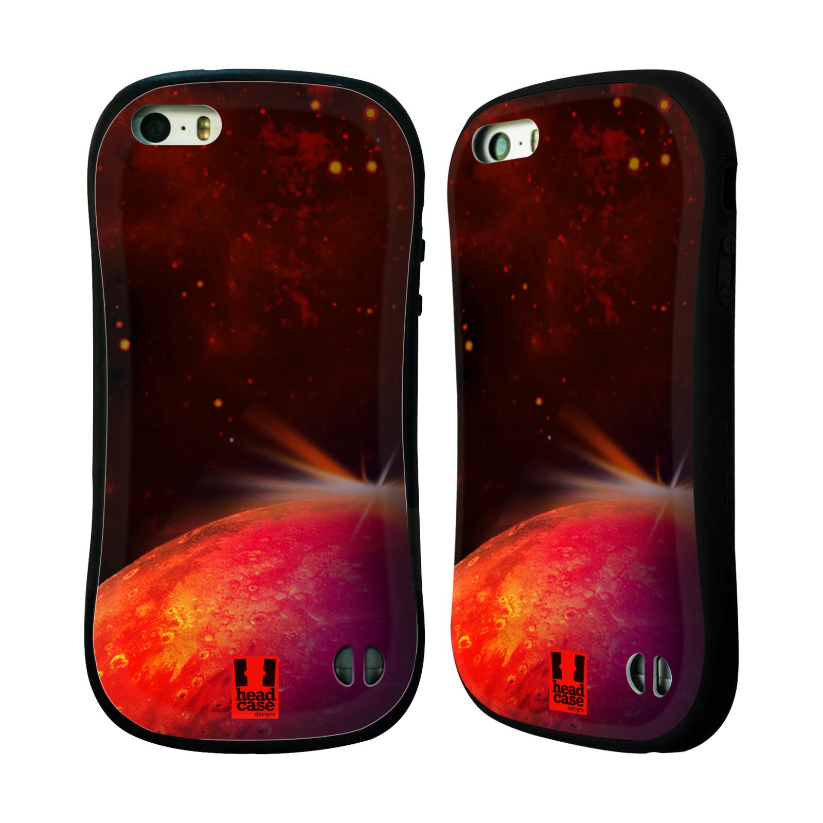 HEAD CASE silikon/plast odolný obal na mobil Apple Iphone 5/5S vzor Vesmírná krása MARS RUDÁ PLANETA