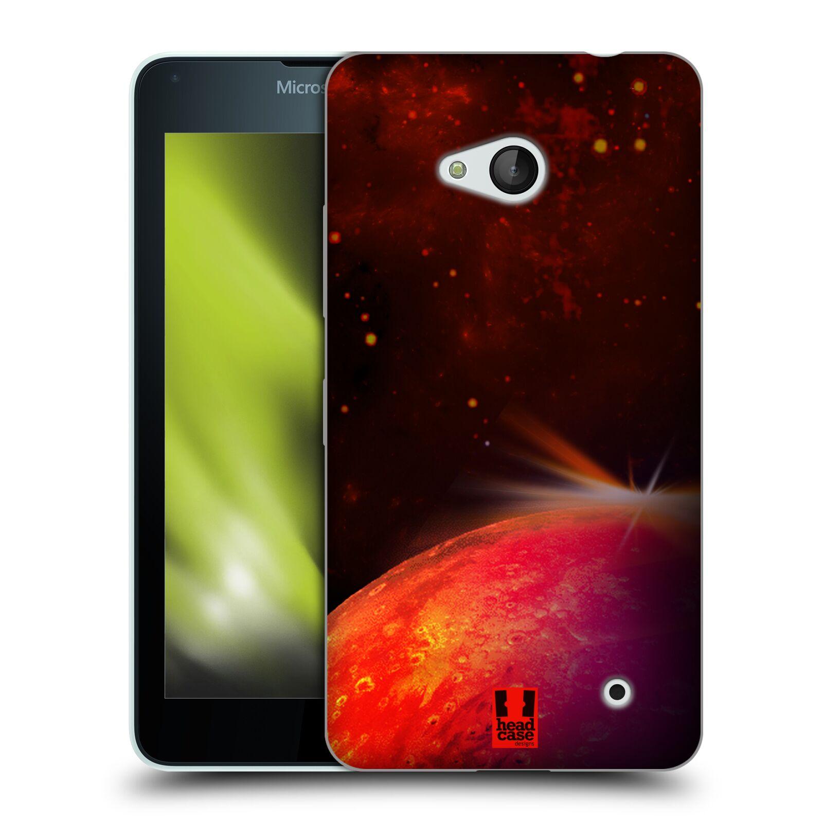 HEAD CASE silikonový obal na mobil Microsoft / Nokia Lumia 640 / Lumia 640 DUAL vzor Vesmírná krása MARS RUDÁ PLANETA