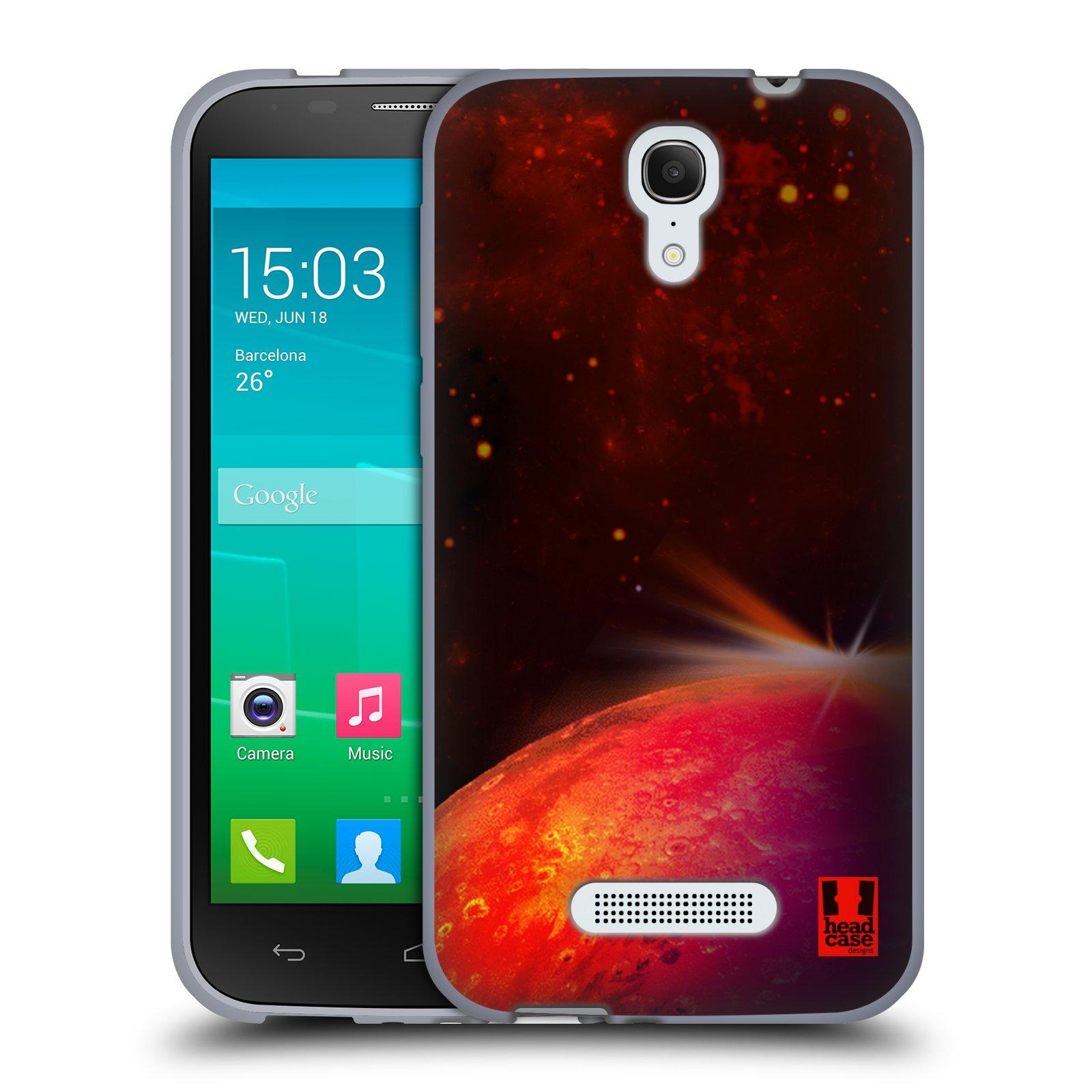 HEAD CASE silikonový obal na mobil Alcatel POP S7 vzor Vesmírná krása MARS RUDÁ PLANETA