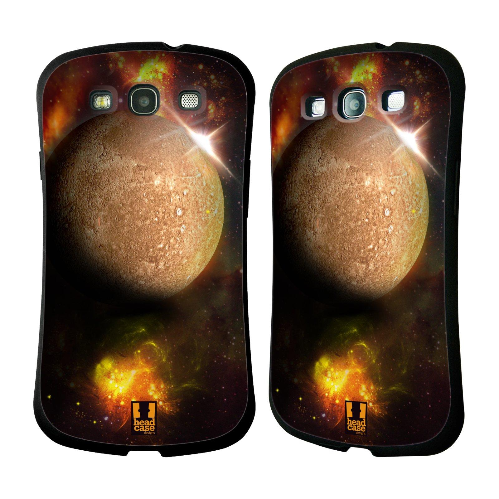 HEAD CASE silikon/plast odolný obal na mobil Samsung Galaxy S3 vzor Vesmírná krása MERKUR PLANETA
