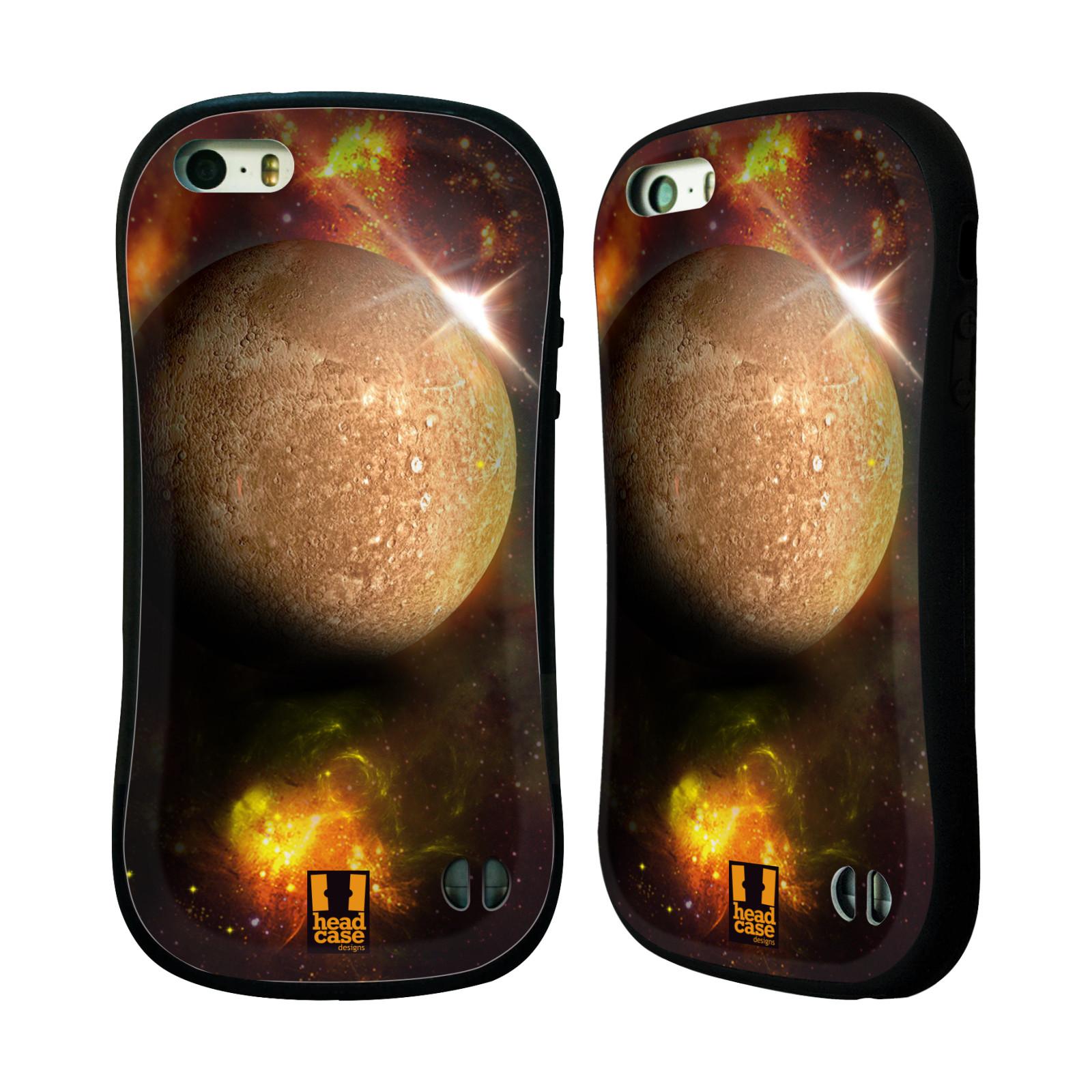 HEAD CASE silikon/plast odolný obal na mobil Apple Iphone 5/5S vzor Vesmírná krása MERKUR PLANETA