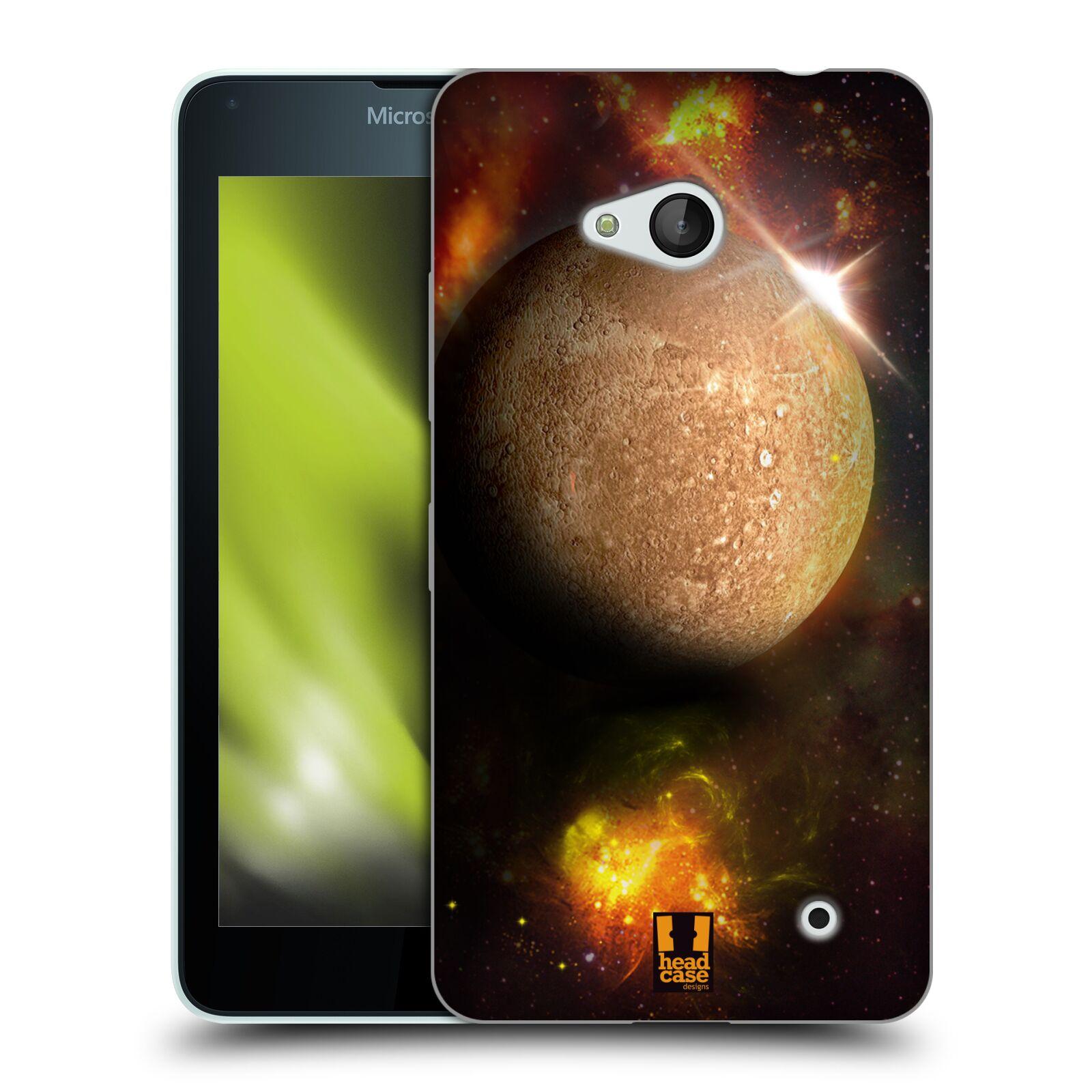 HEAD CASE silikonový obal na mobil Microsoft / Nokia Lumia 640 / Lumia 640 DUAL vzor Vesmírná krása MERKUR PLANETA