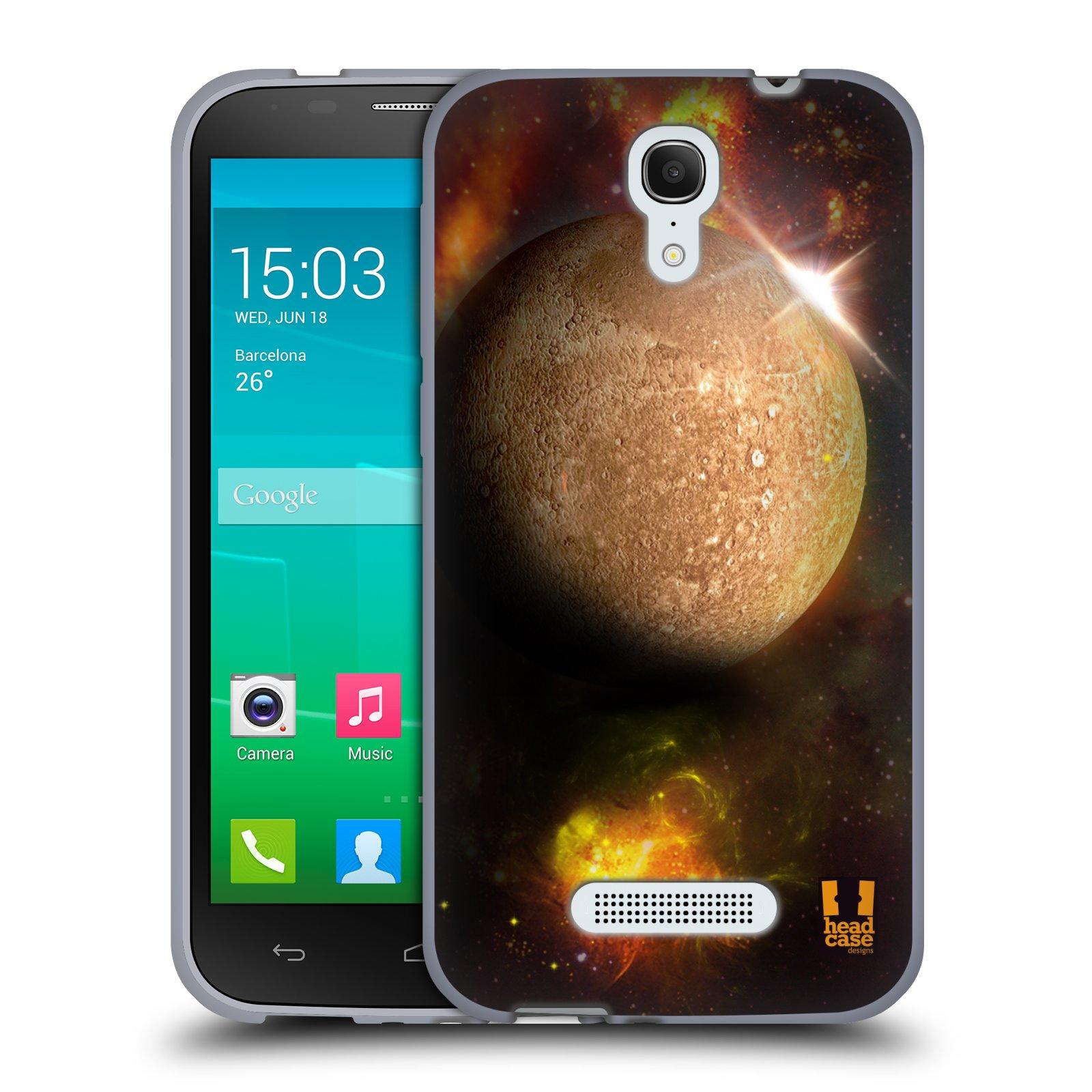 HEAD CASE silikonový obal na mobil Alcatel POP S7 vzor Vesmírná krása MERKUR PLANETA