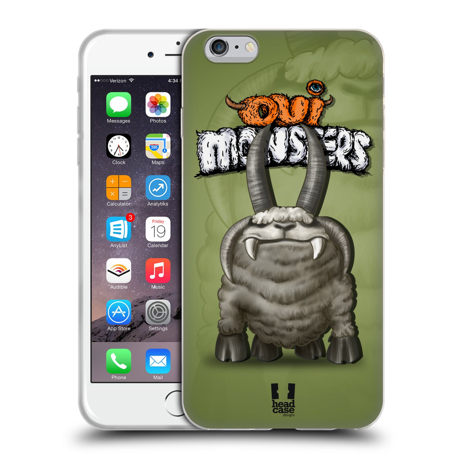 HEAD CASE silikonový obal na mobil Apple Iphone 6 PLUS/ 6S PLUS vzor Velké lesní příšerky čtverák Jacob