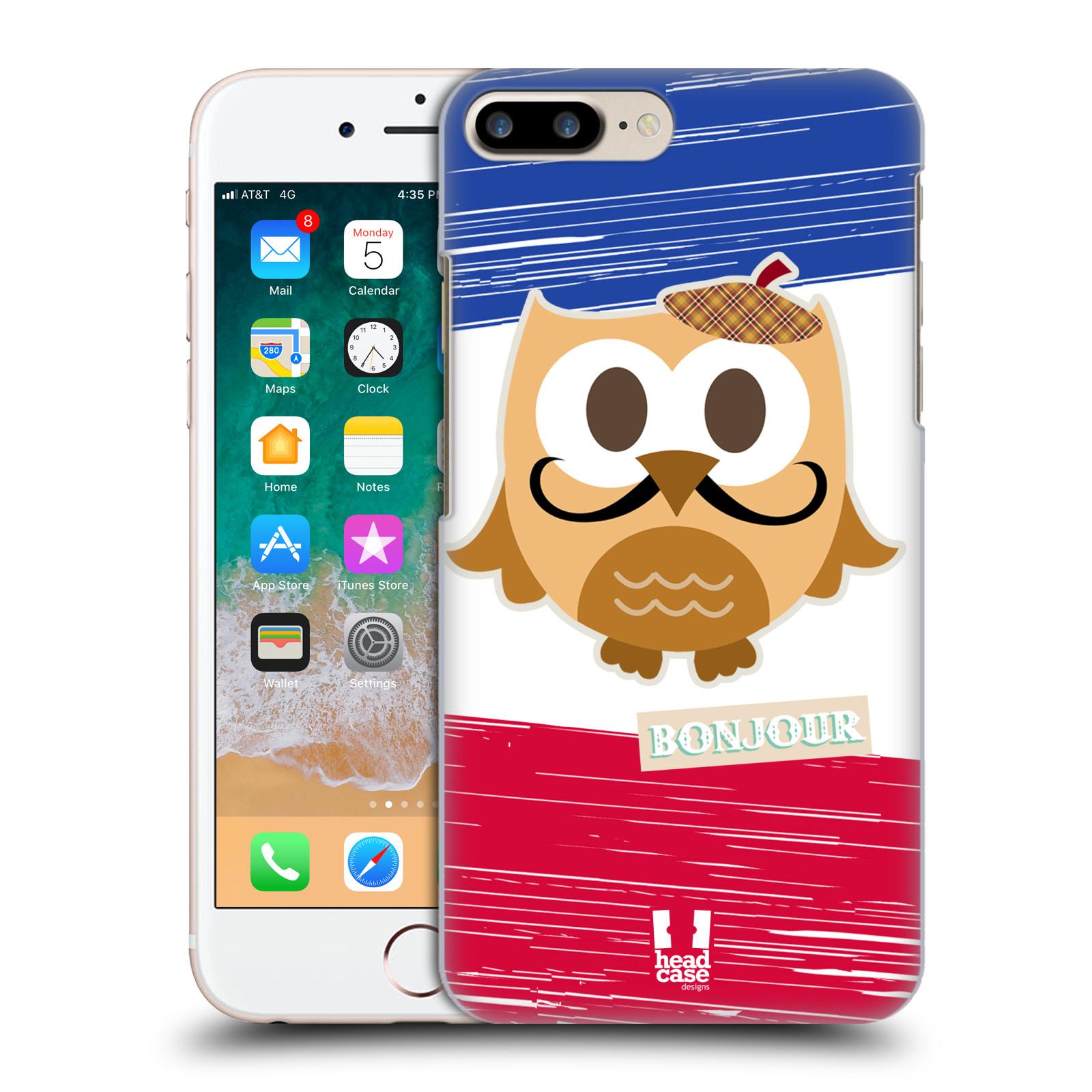 HEAD CASE plastový obal na mobil Apple Iphone 7 PLUS vzor Roztomilá sovička Francie sovička
