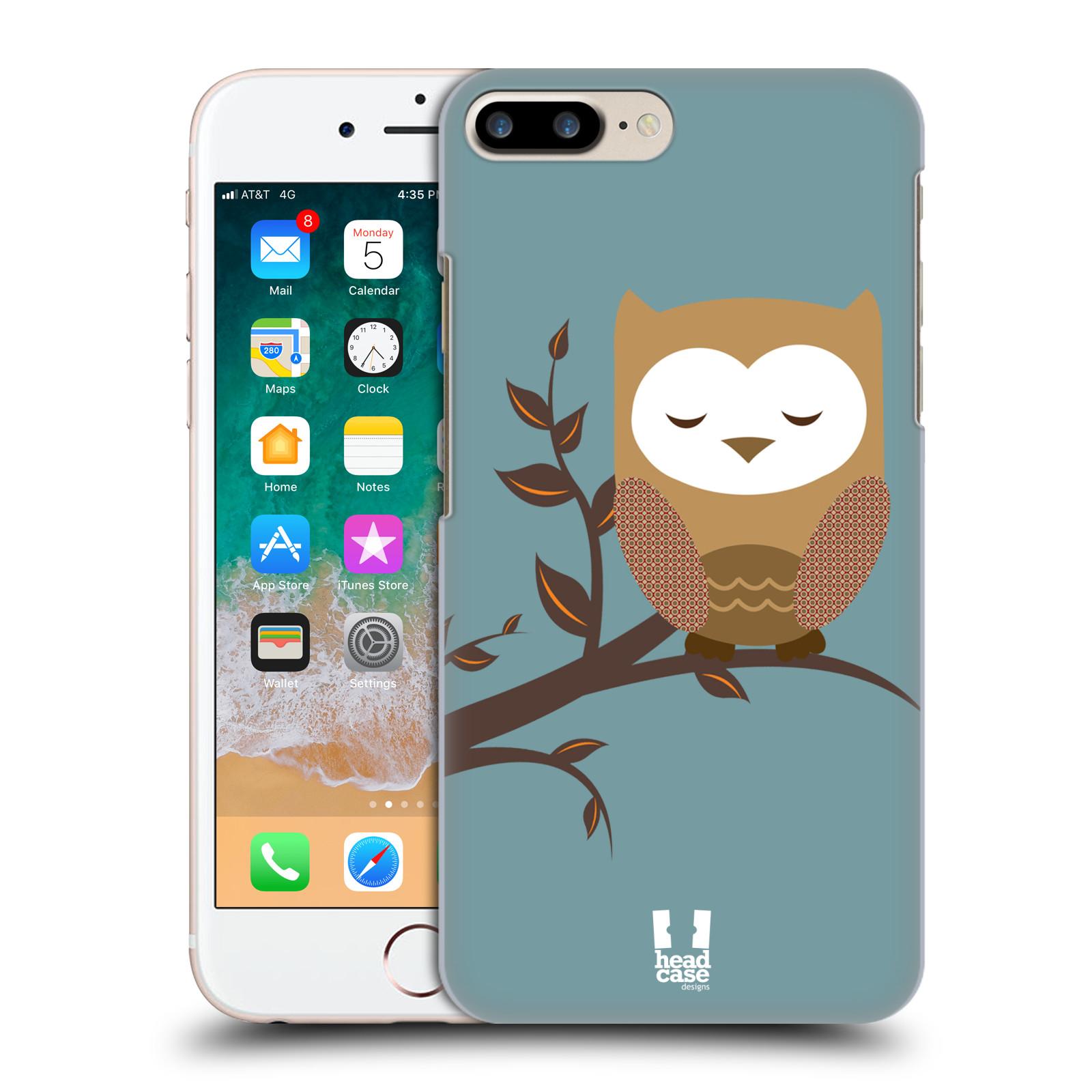HEAD CASE plastový obal na mobil Apple Iphone 7 PLUS vzor Roztomilá sovička spící sovička na větvi