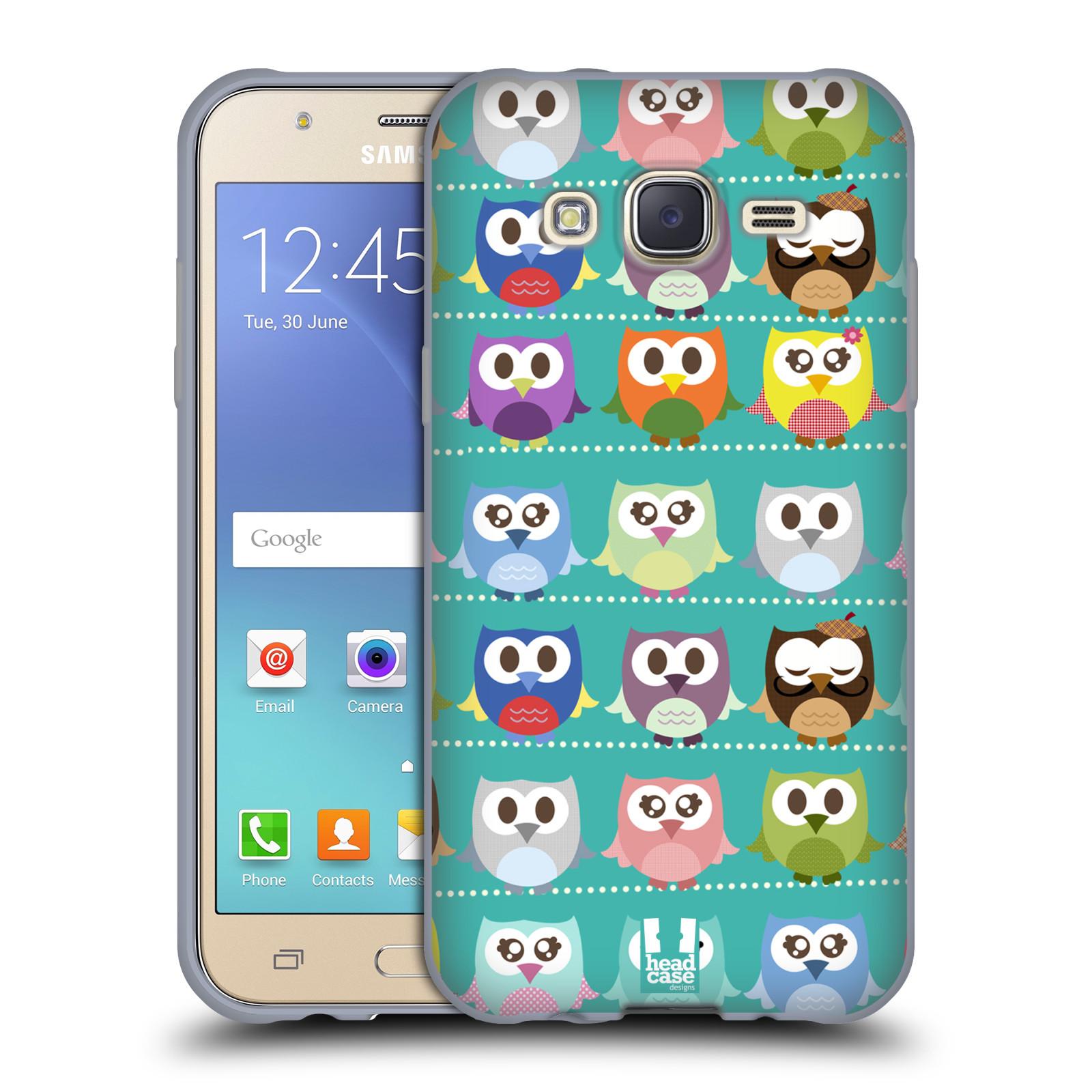 HEAD CASE silikonový obal na mobil Samsung Galaxy J5, J500, (J5 DUOS) vzor Roztomilá sovička zelené sovičky