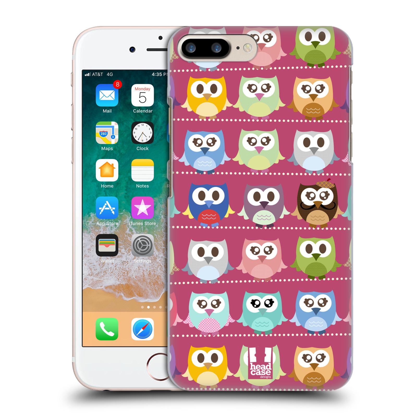 HEAD CASE plastový obal na mobil Apple Iphone 7 PLUS vzor Roztomilá sovička růžové sovičky