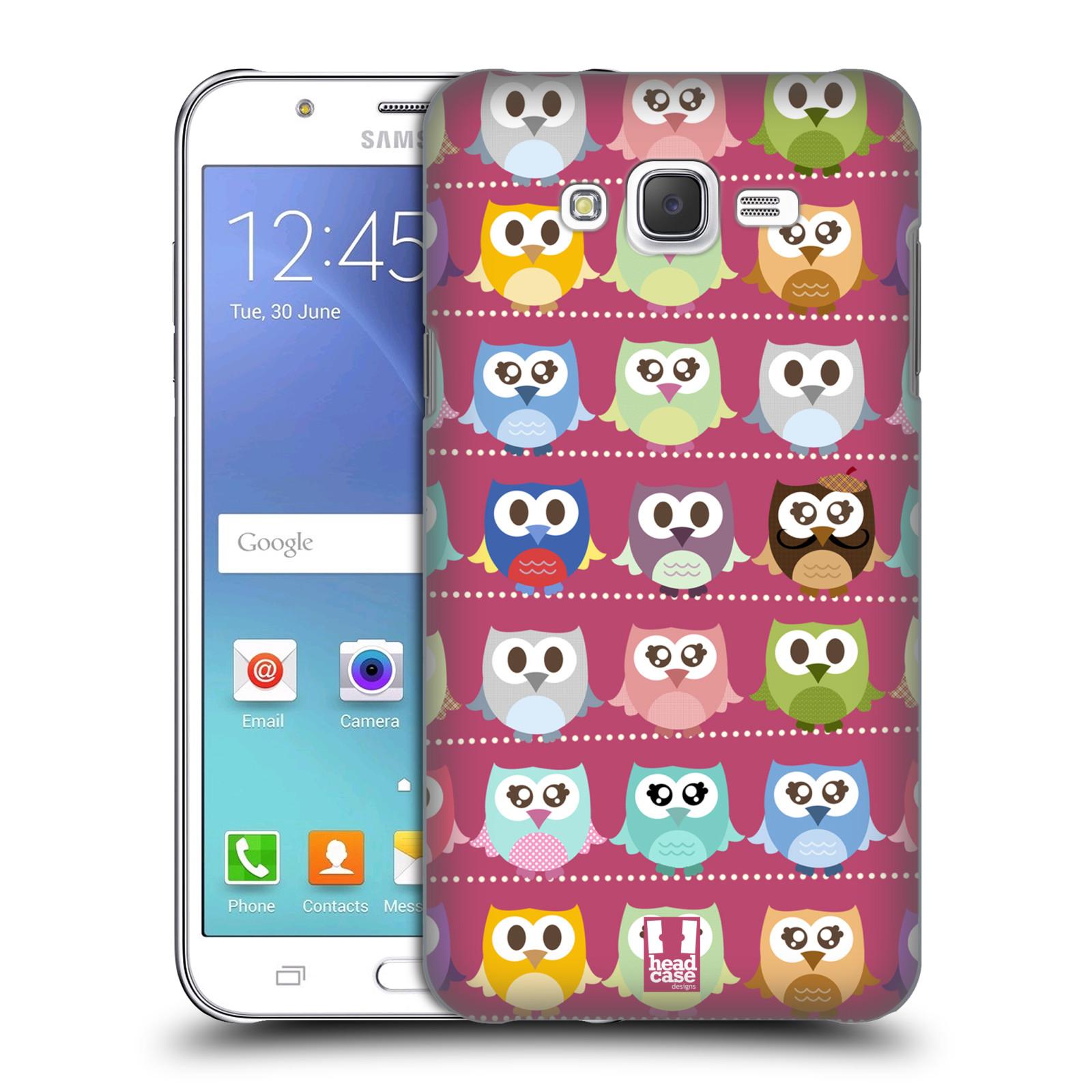 HEAD CASE plastový obal na mobil SAMSUNG Galaxy J7, J700 vzor Roztomilá sovička růžové sovičky