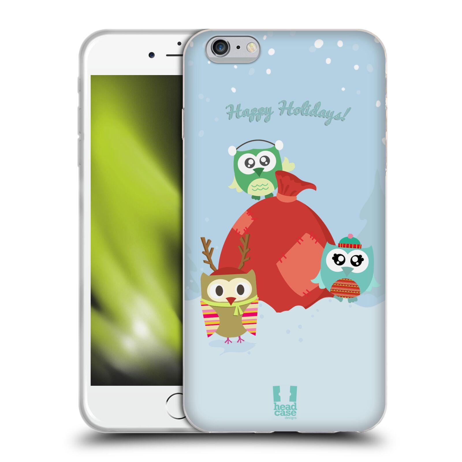 HEAD CASE silikonový obal na mobil Apple Iphone 6 PLUS/ 6S PLUS vzor Zimní sovičky snežné dárečky