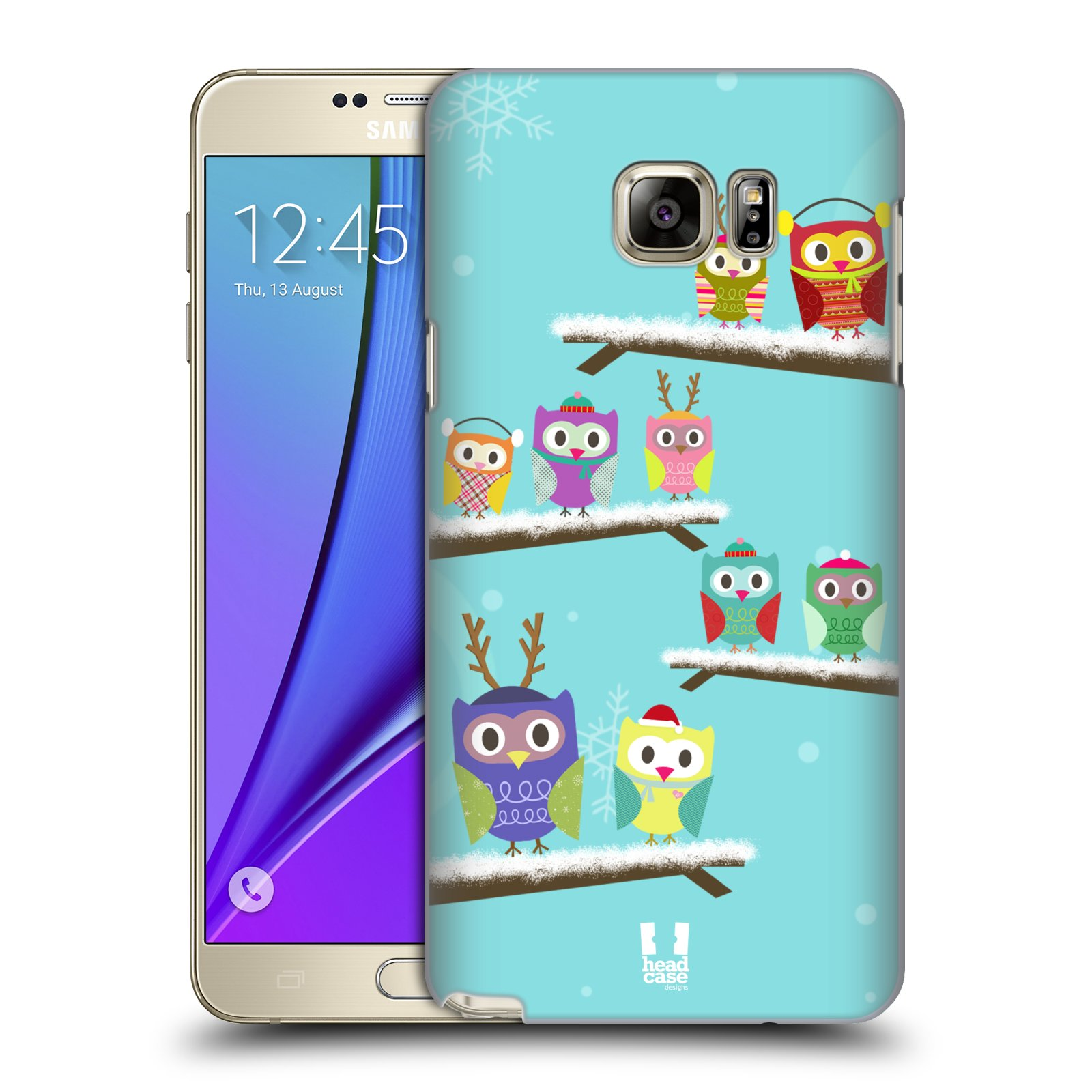 HEAD CASE DESIGNS OWL XMAS HARD BACK CASE FOR SAMSUNG GALAXY NOTE 5