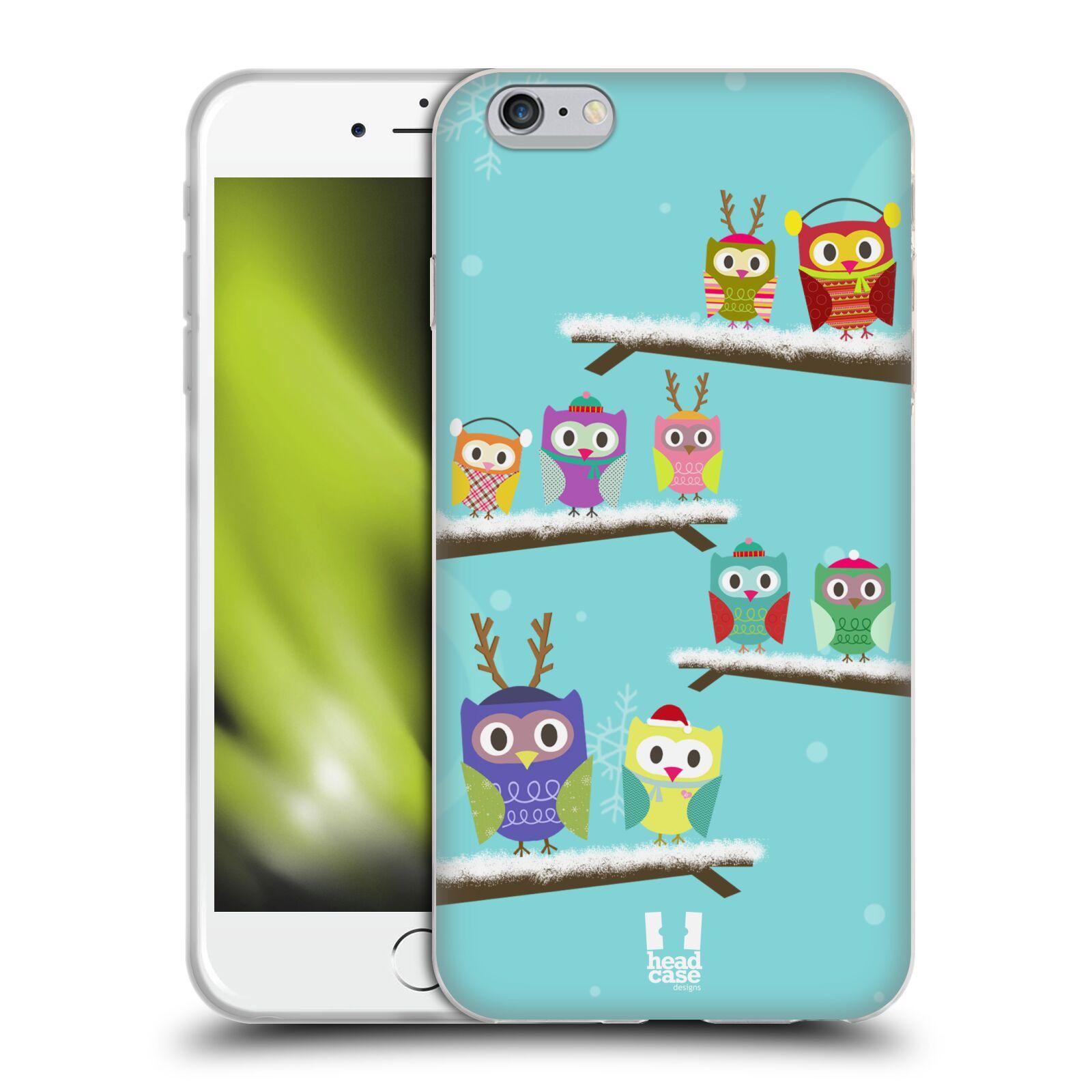 HEAD CASE silikonový obal na mobil Apple Iphone 6 PLUS/ 6S PLUS vzor Zimní sovičky modrá