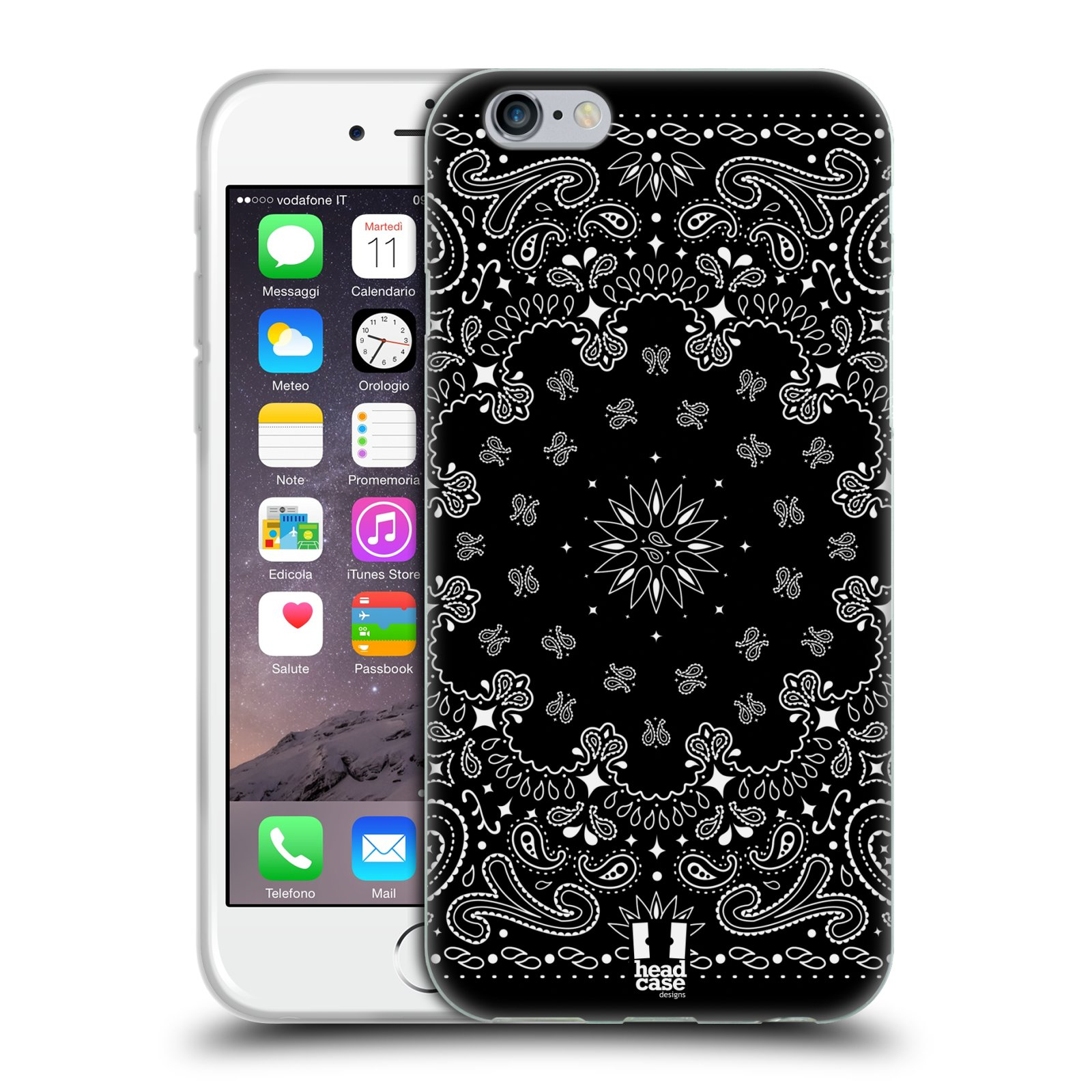 HEAD CASE CLASSIC PAISLEY BANDANA SILICONE GEL CASE FOR APPLE iPHONE 6 4.7