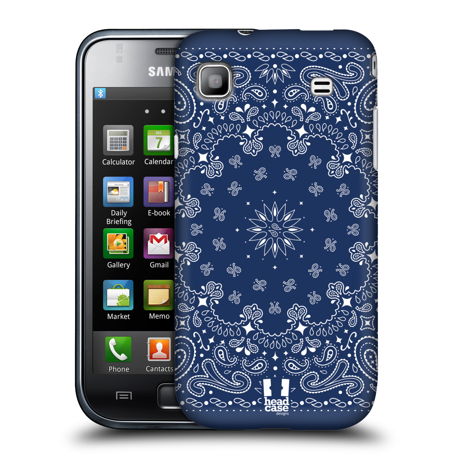 HEAD CASE DESIGNS CLASSIC PAISLEY BANDANA CASE FOR SAMSUNG GALAXY S I9000