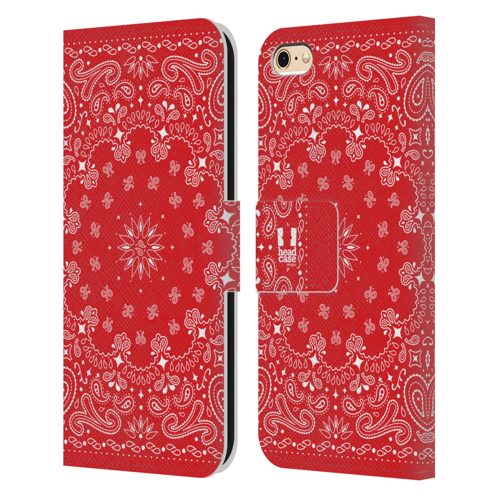 Classic Book Cover Phone Cases : Head case designs classic bandana leather book for