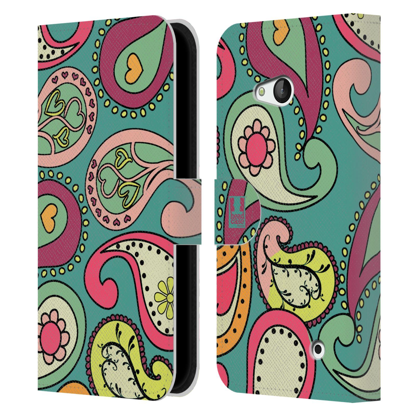HEAD CASE Flipové pouzdro pro mobil NOKIA / MICROSOFT LUMIA 640 / LUMIA 640 DUAL barevné slzy tyrkysová