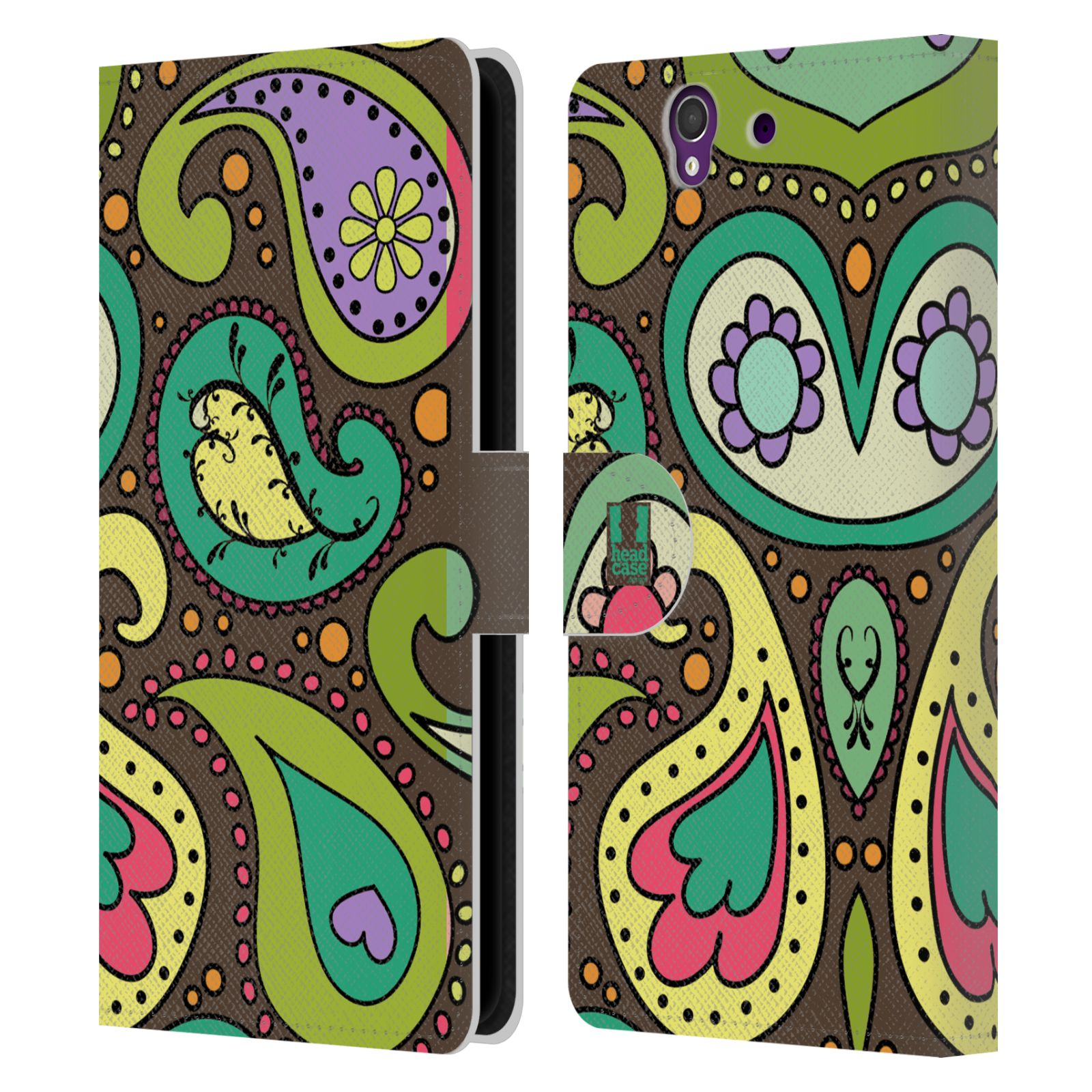 HEAD CASE Flipové pouzdro pro mobil SONY XPERIA Z (C6603) barevné slzy CHOCO