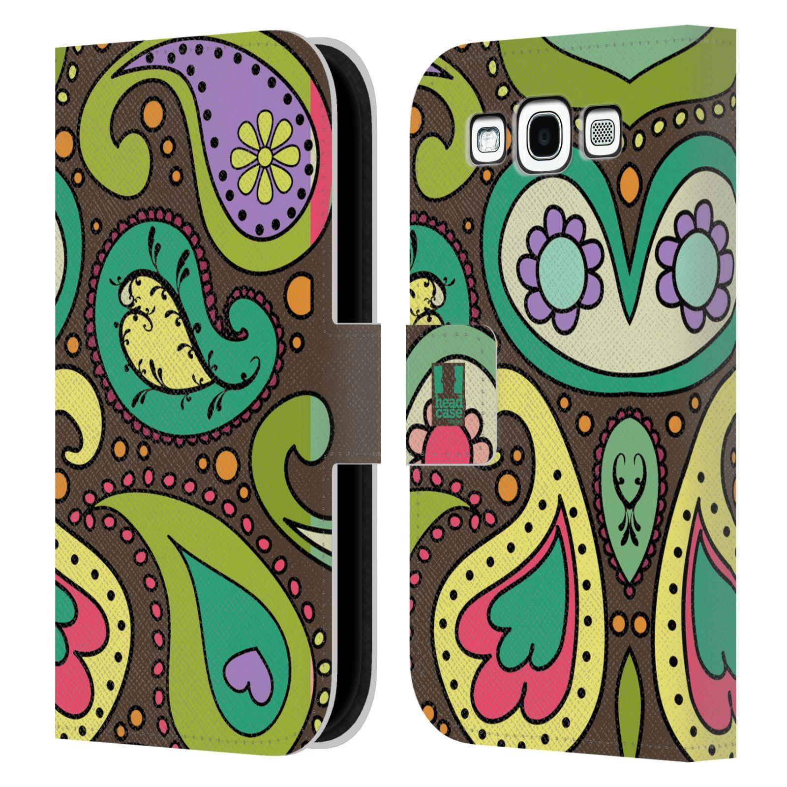 HEAD CASE Flipové pouzdro pro mobil Samsung Galaxy S3 barevné slzy CHOCO
