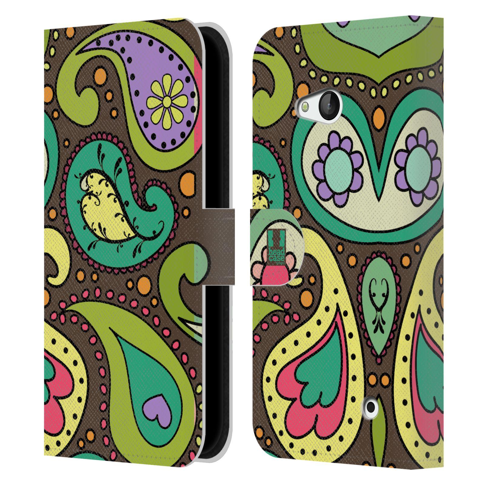 HEAD CASE Flipové pouzdro pro mobil NOKIA / MICROSOFT LUMIA 640 / LUMIA 640 DUAL barevné slzy CHOCO