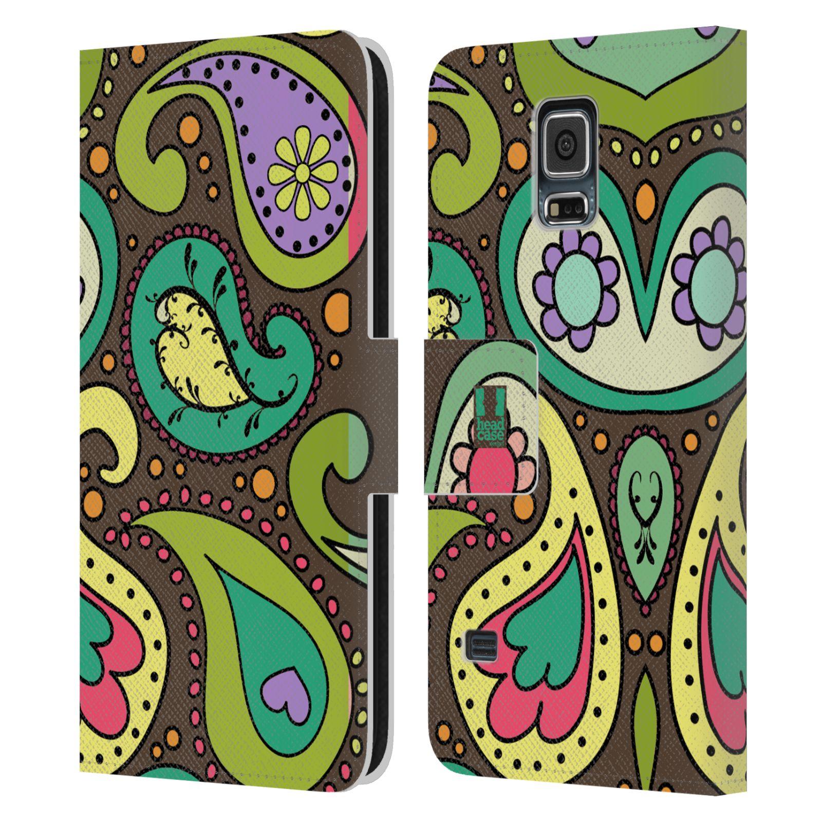 HEAD CASE Flipové pouzdro pro mobil Samsung Galaxy S5 / S5 NEO barevné slzy CHOCO