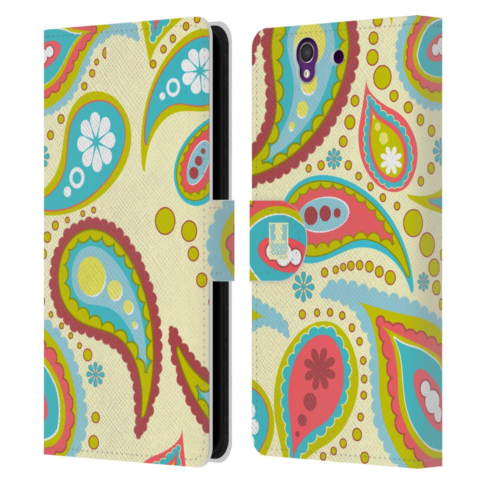 HEAD CASE Flipové pouzdro pro mobil SONY XPERIA Z (C6603) barevné slzy krémová