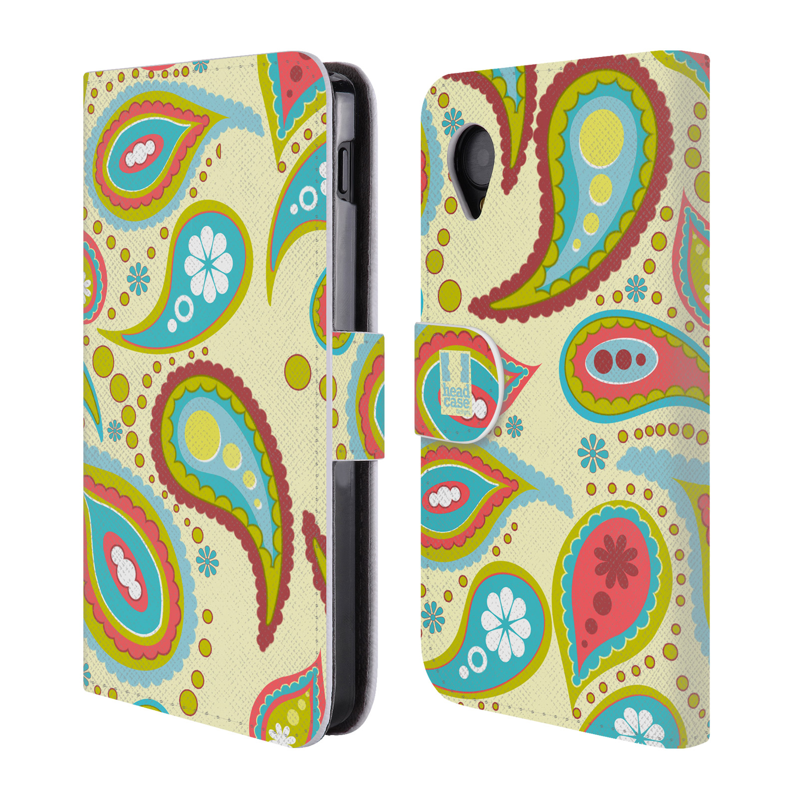 Book Cover Pattern Uk : Head case designs paisley patterns leather book wallet