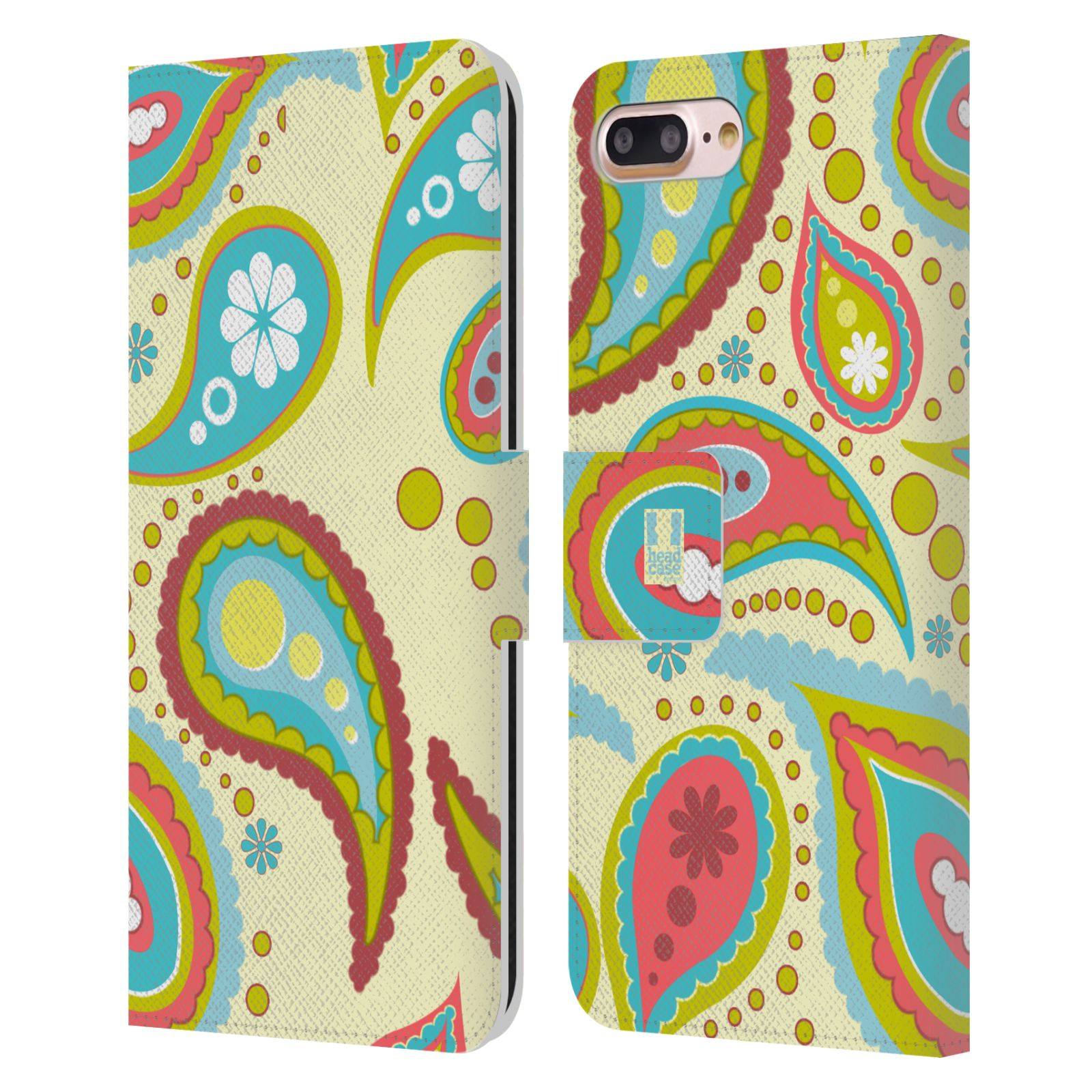 HEAD CASE Flipové pouzdro pro mobil Apple Iphone 7 PLUS / 8 PLUS barevné slzy krémová