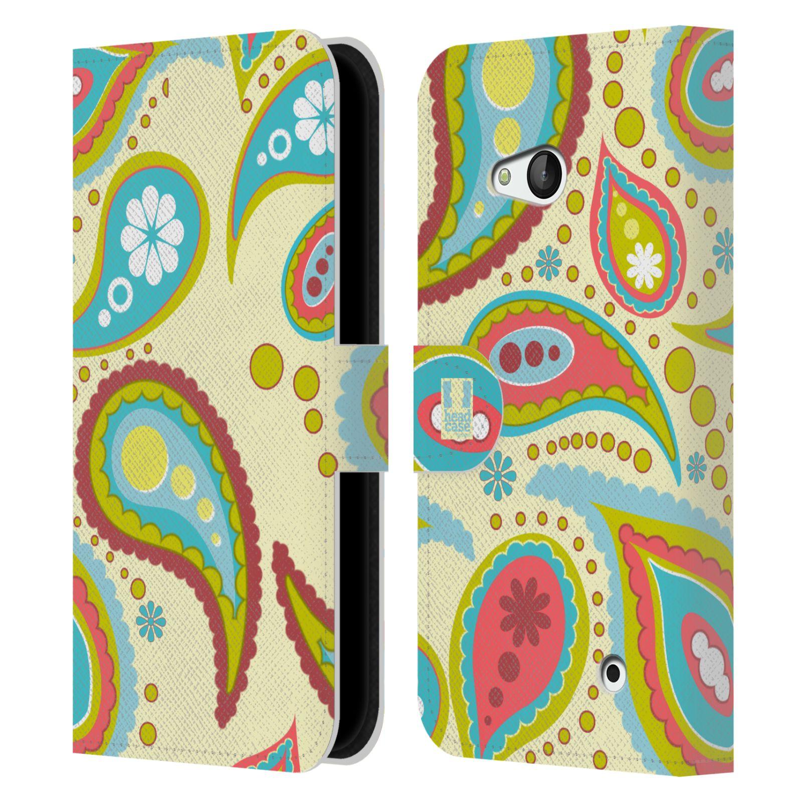 HEAD CASE Flipové pouzdro pro mobil NOKIA / MICROSOFT LUMIA 640 / LUMIA 640 DUAL barevné slzy krémová