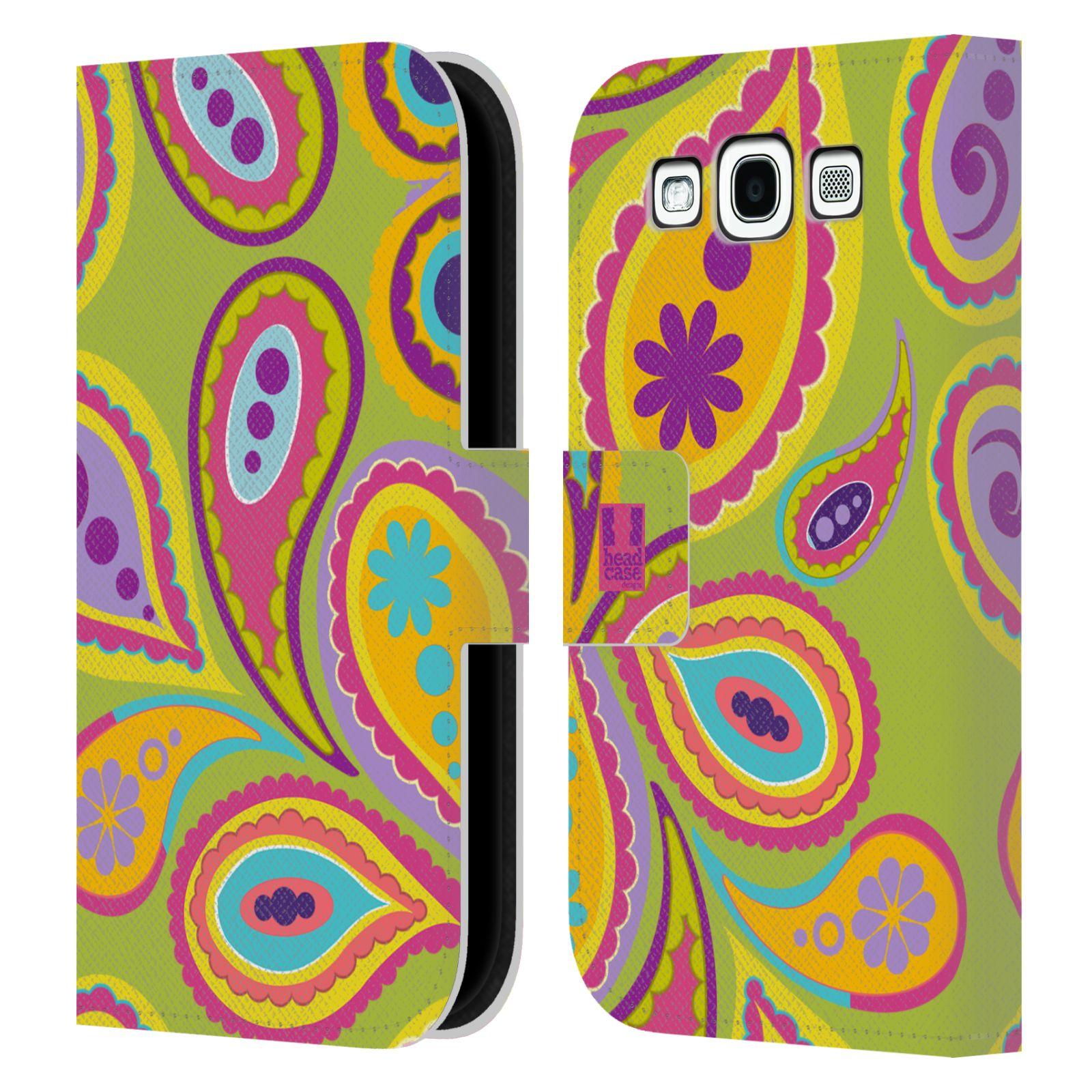 HEAD CASE Flipové pouzdro pro mobil Samsung Galaxy S3 barevné slzy KIWI