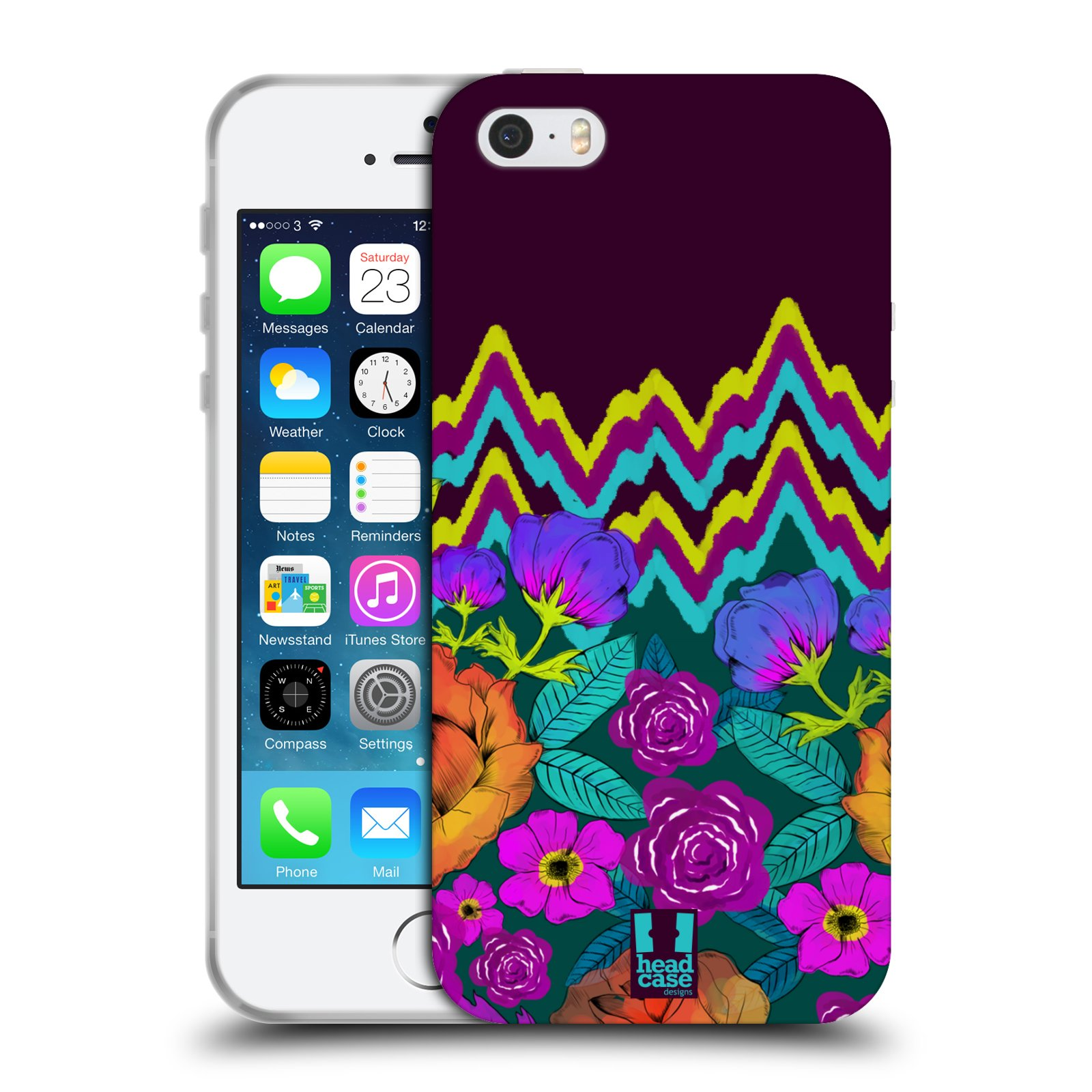 HEAD CASE PATTERN MIX TPU GEL BACK CASE COVER FOR APPLE iPHONE 5S