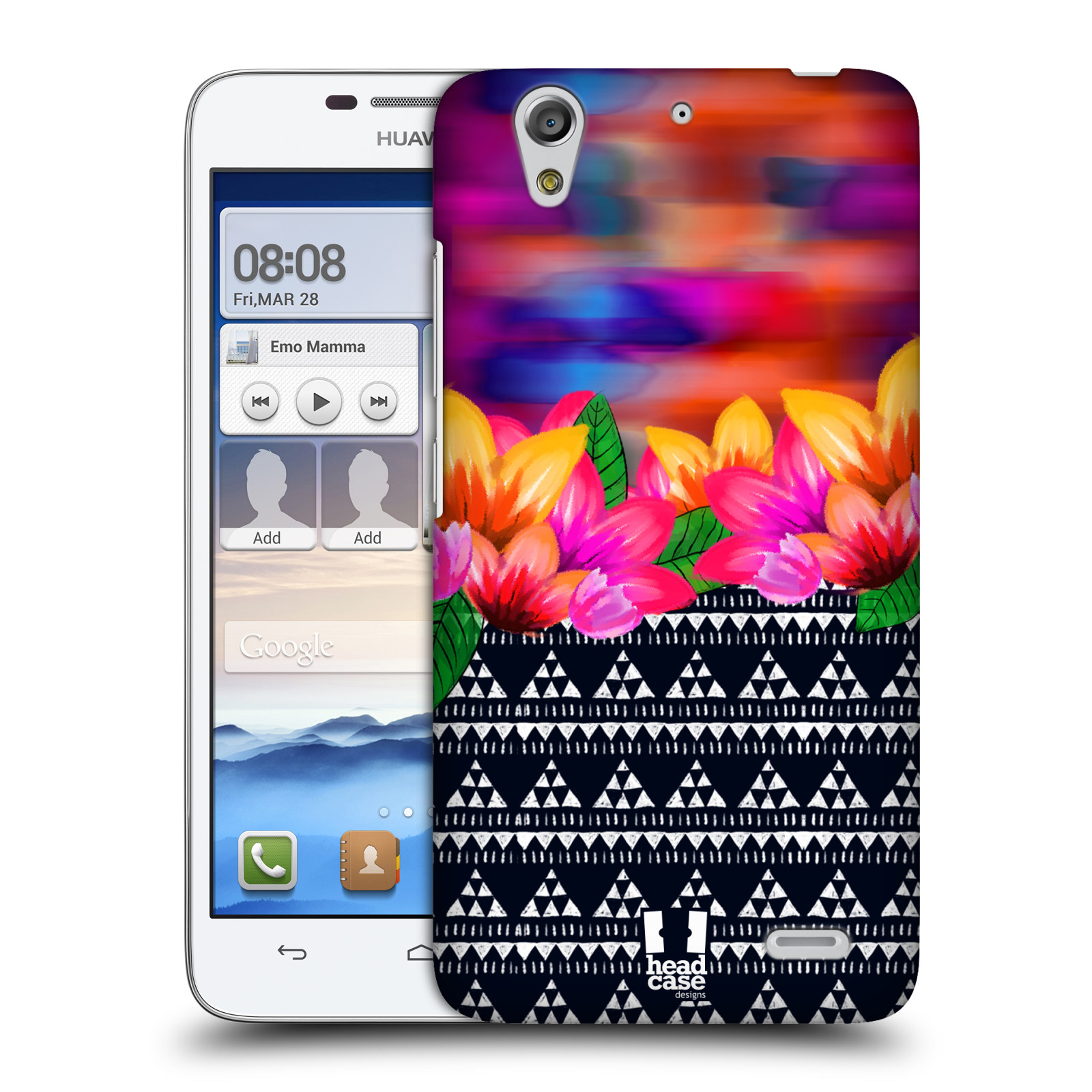 HEAD CASE DESIGNS PATTERN MIX HARD BACK CASE FOR HUAWEI ASCEND G630