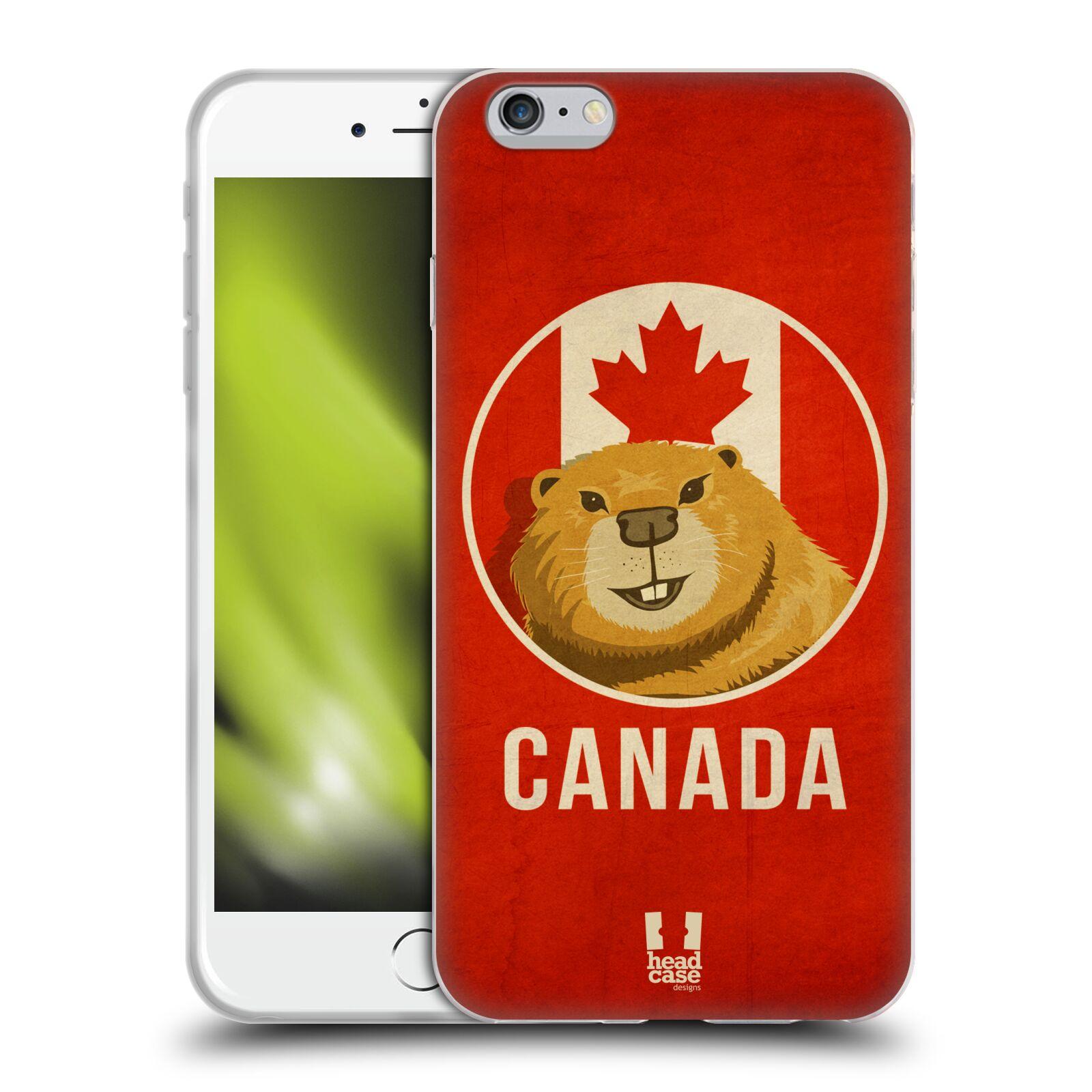 HEAD CASE silikonový obal na mobil Apple Iphone 6 PLUS/ 6S PLUS vzor Patriotismus zvíře symbol CANADA BOBR