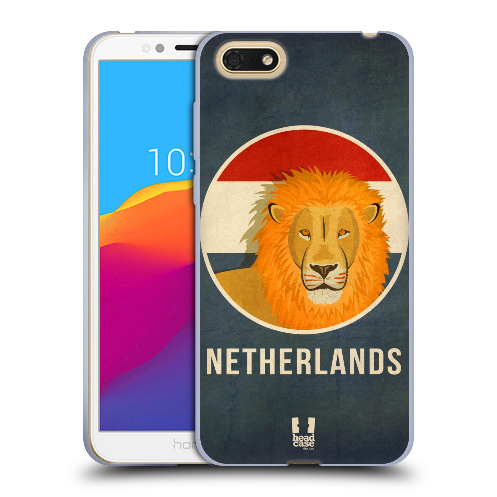 HEAD CASE silikonový obal na mobil Honor 7S vzor Patriotismus zvíře symbol HOLANDSKO LEV