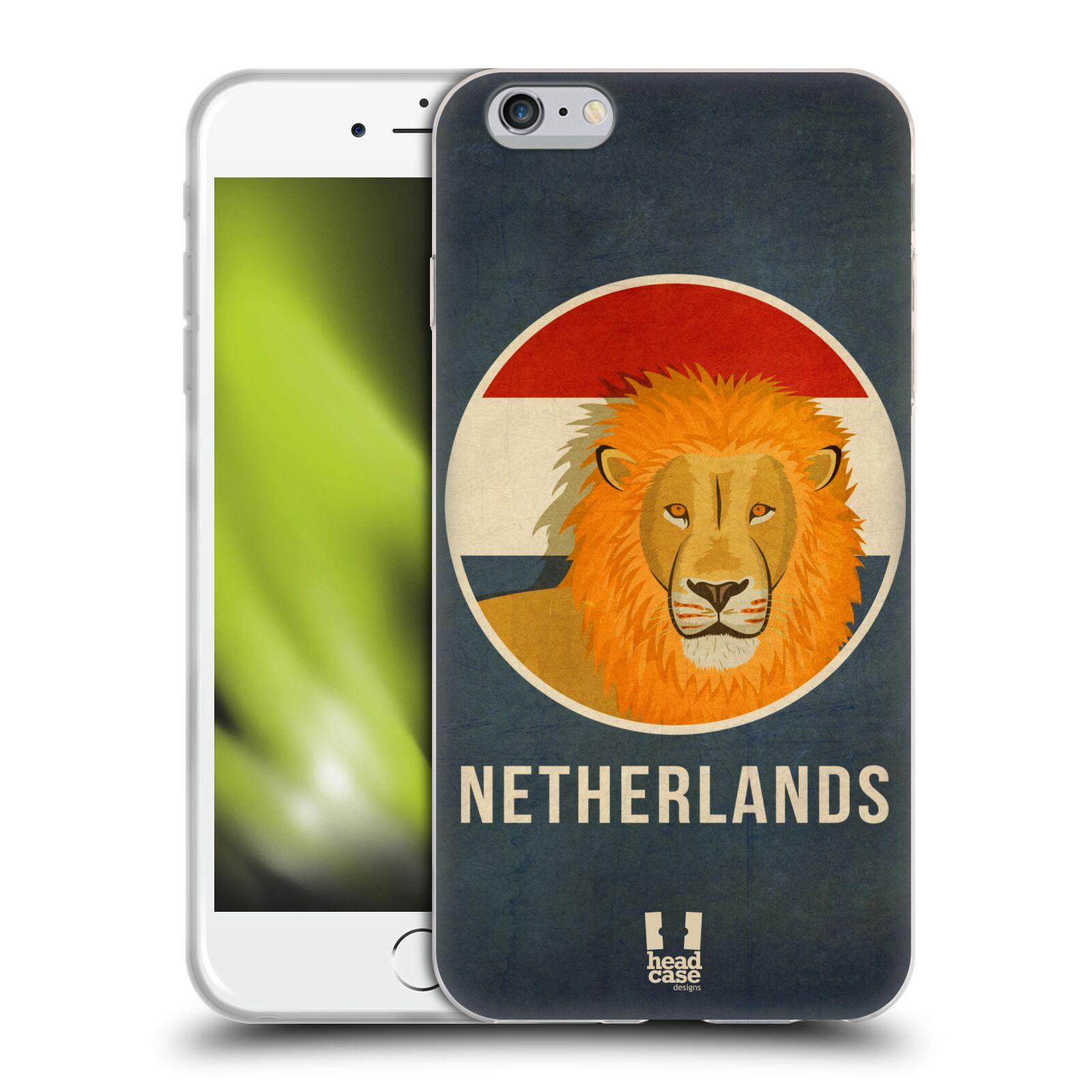 HEAD CASE silikonový obal na mobil Apple Iphone 6 PLUS/ 6S PLUS vzor Patriotismus zvíře symbol HOLANDSKO LEV