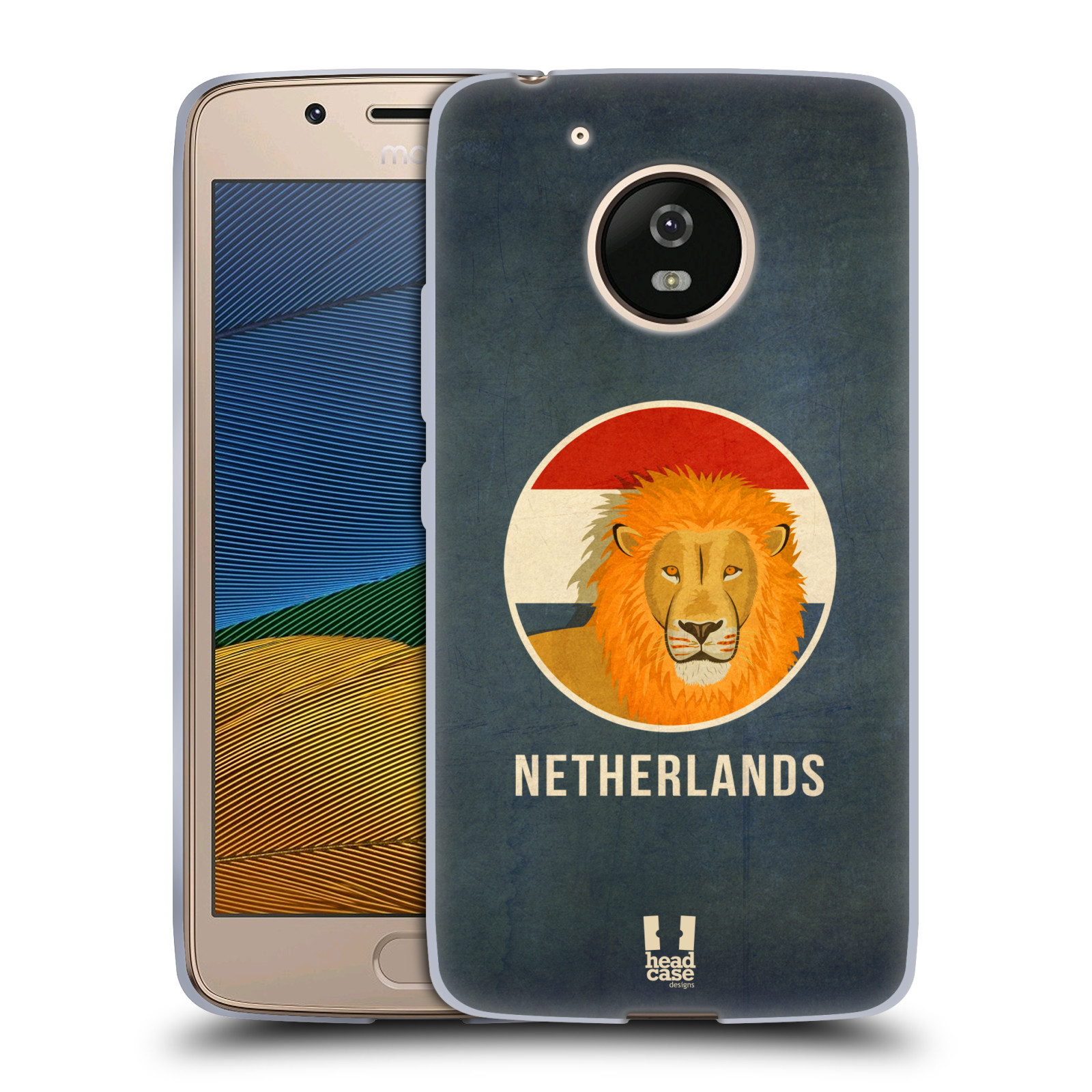 HEAD CASE silikonový obal na mobil Lenovo Moto G5 vzor Patriotismus zvíře symbol HOLANDSKO LEV