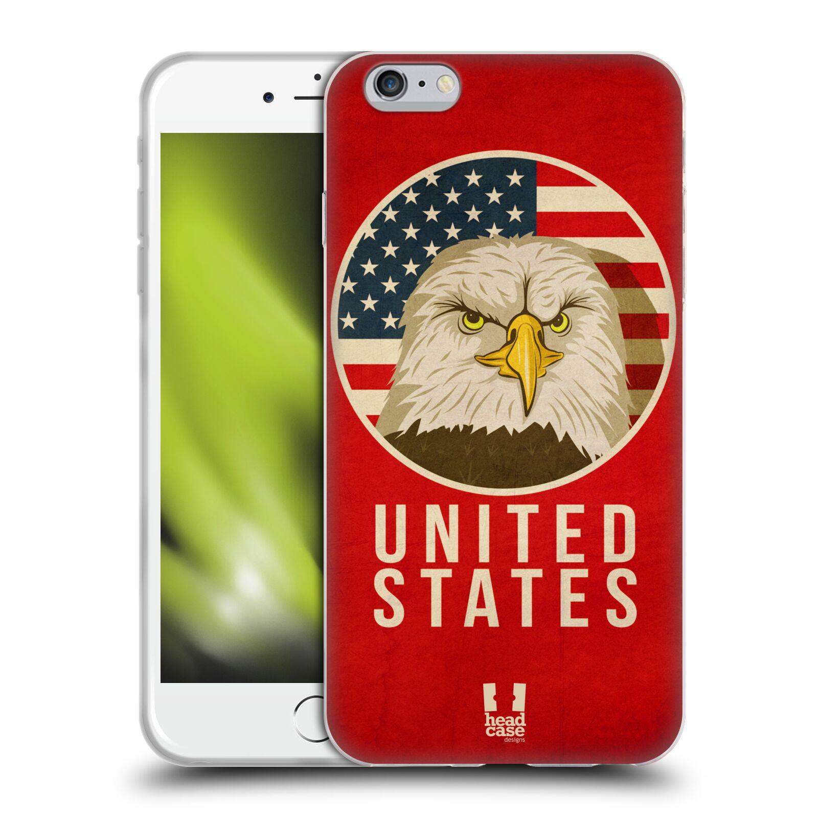 HEAD CASE silikonový obal na mobil Apple Iphone 6 PLUS/ 6S PLUS vzor Patriotismus zvíře symbol USA OREL